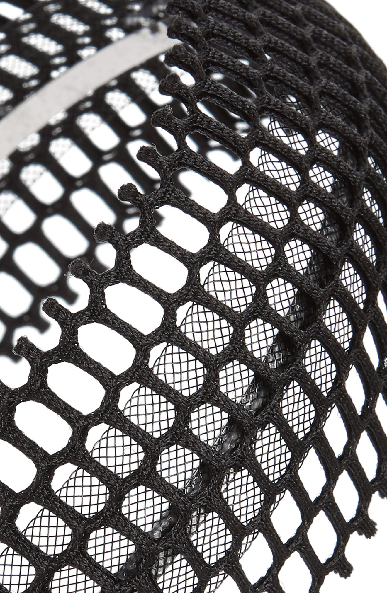Fishnet Headband,                             Alternate thumbnail 2, color,                             BLACK