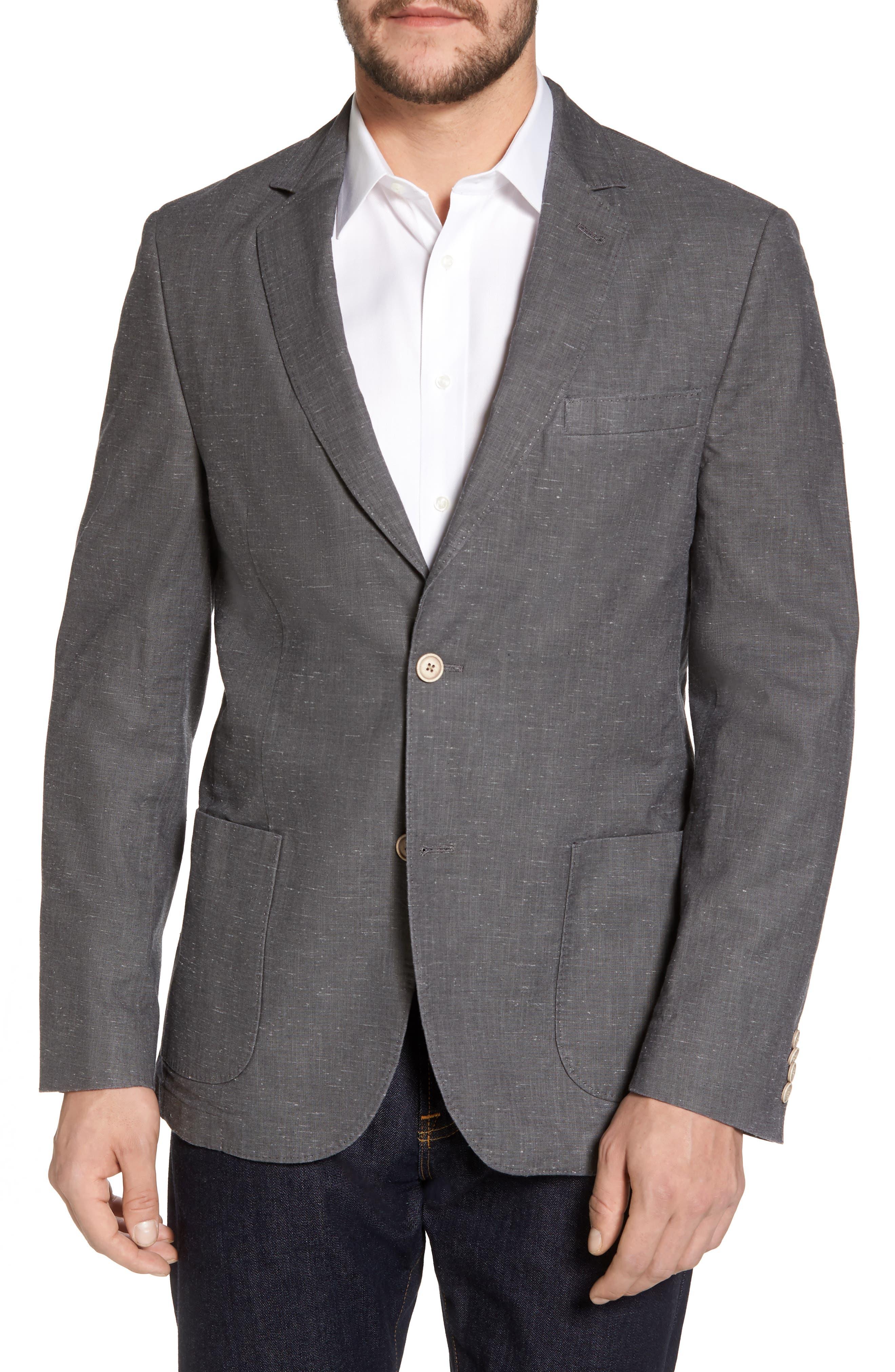 Classic Fit Slub Soft Sport Coat,                         Main,                         color,
