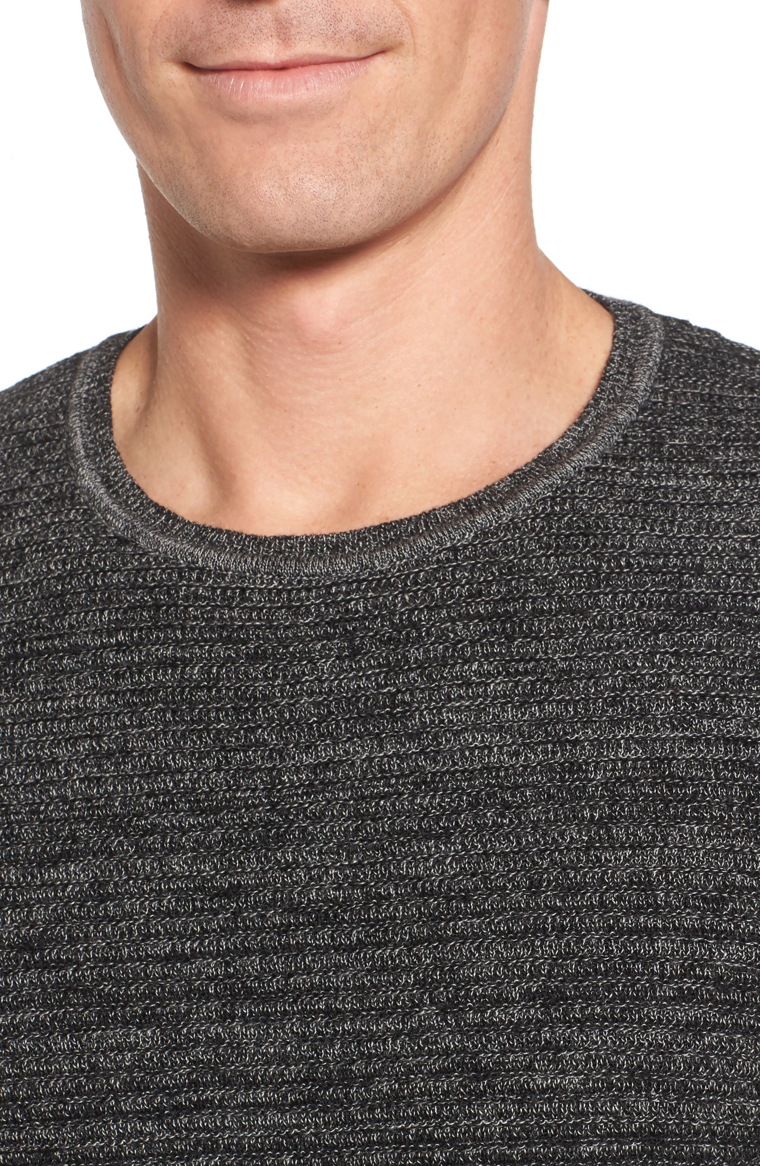 Ottoman Wool Blend Sweater,                             Alternate thumbnail 4, color,                             001