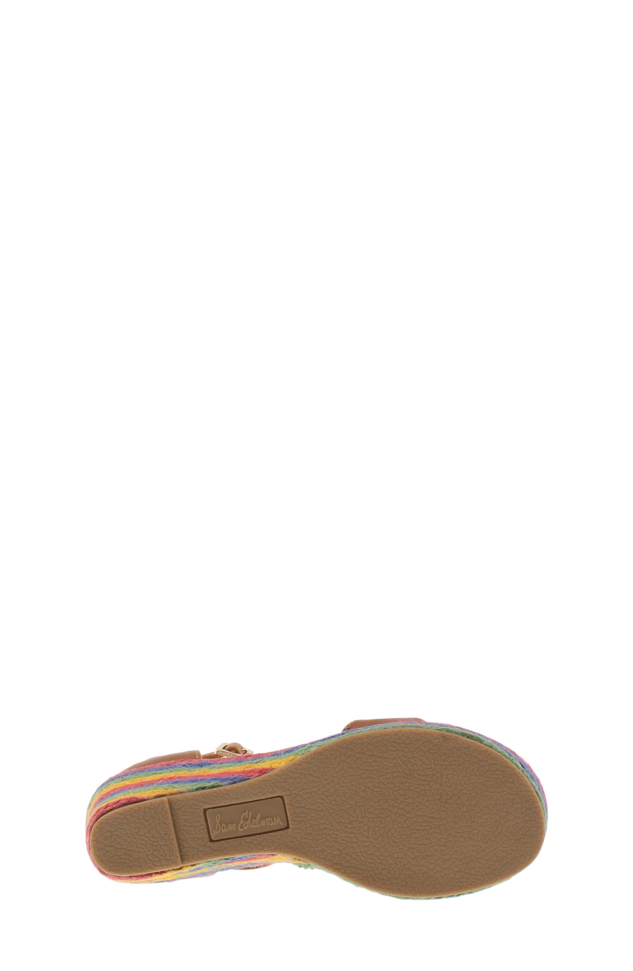 Azalia Ray Wedge Sandal,                             Alternate thumbnail 6, color,                             SADDLE