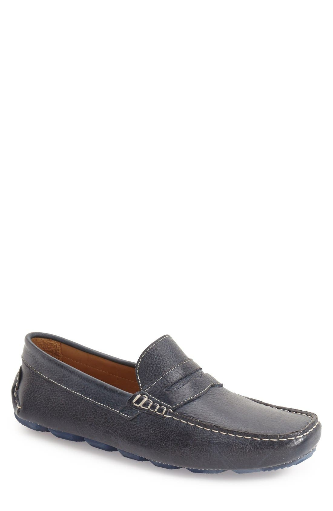 'Bermuda' Penny Loafer,                             Main thumbnail 1, color,                             MARINE LEATHER