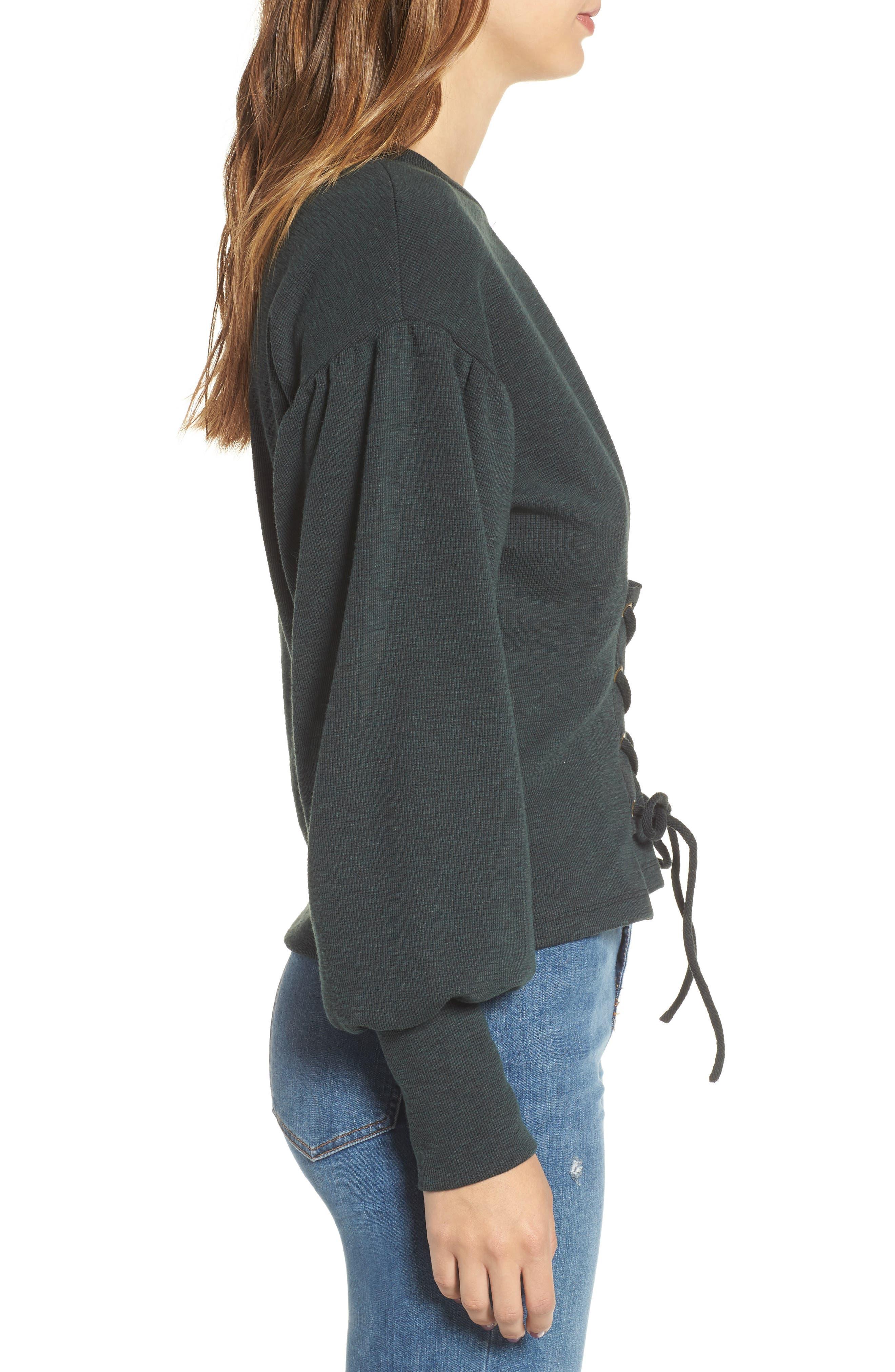 Corset Sweatshirt,                             Alternate thumbnail 3, color,                             300