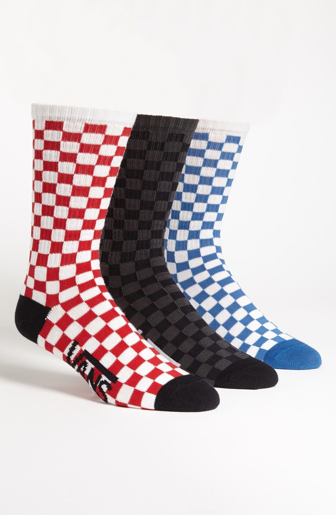 Checkerboard Socks, Main, color, 001