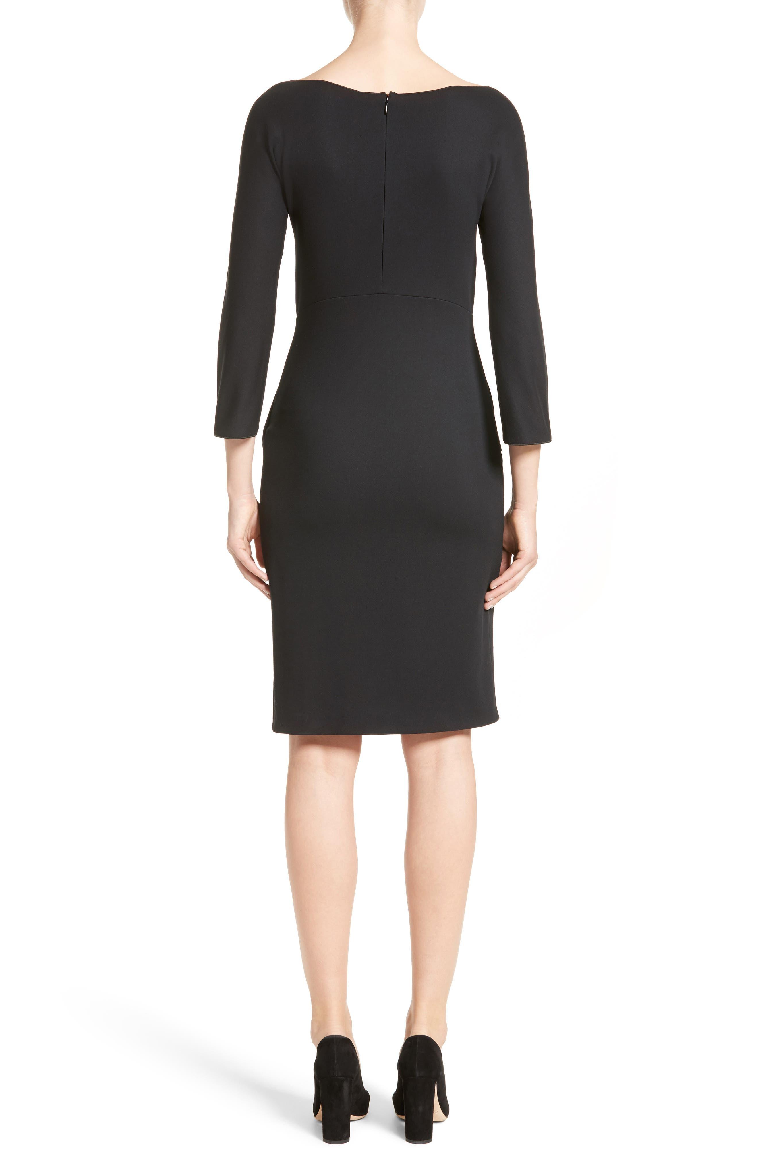 Grommet Detail Milano Jersey Dress,                             Alternate thumbnail 2, color,                             001