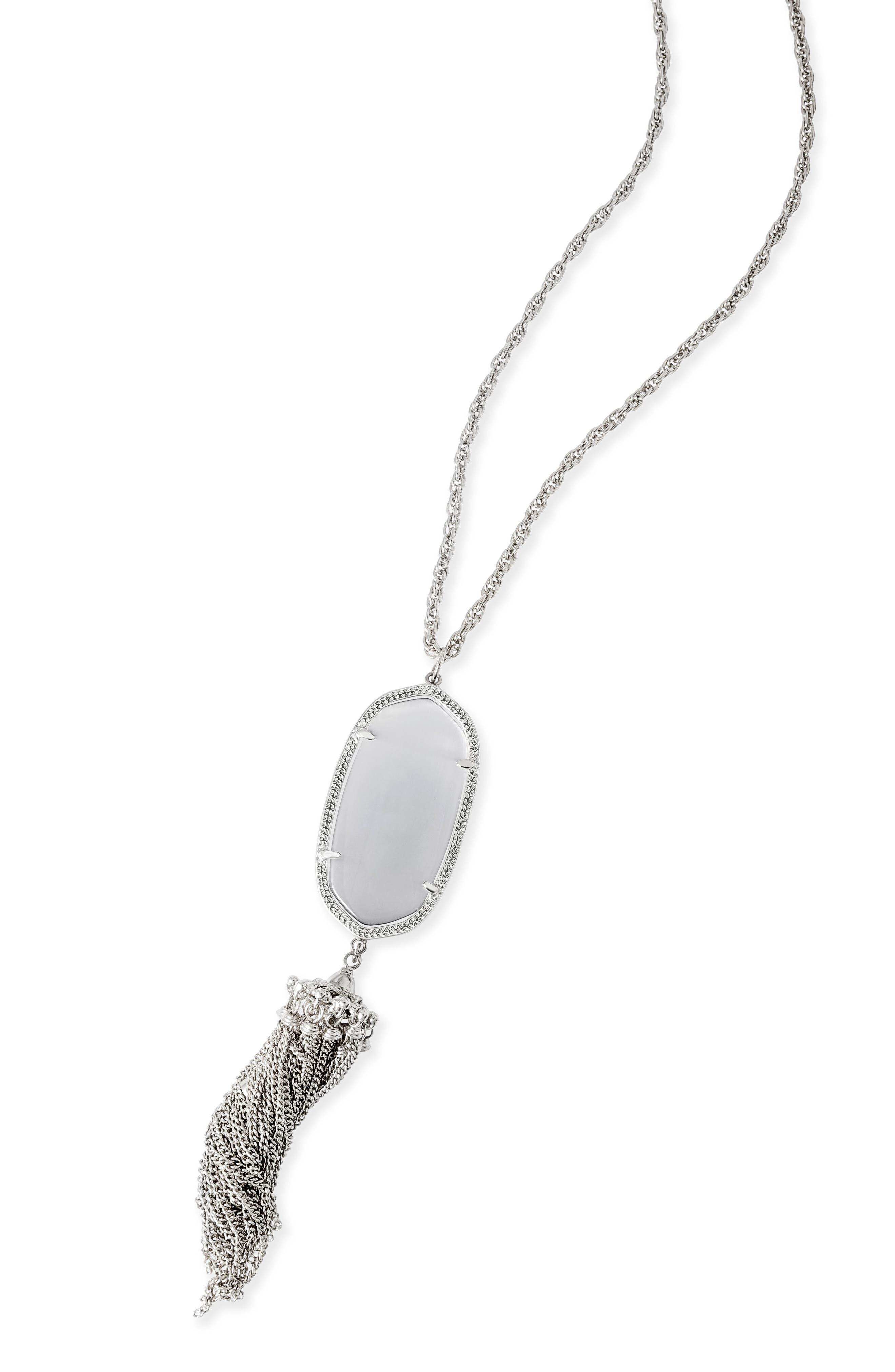 Rayne Stone Tassel Pendant Necklace,                             Alternate thumbnail 330, color,