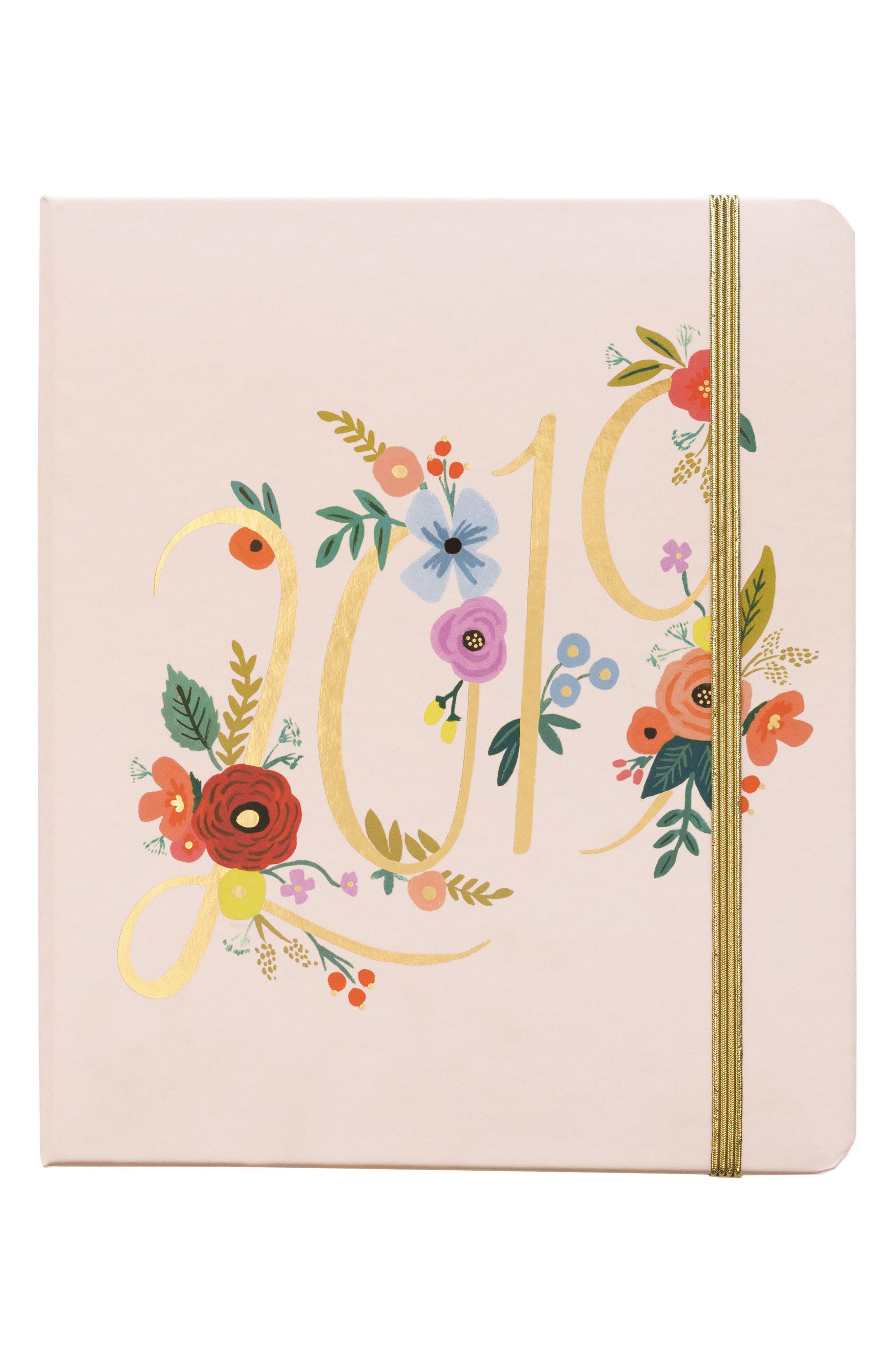 2019 Bouquet 17-Month Planner,                         Main,                         color, PINK