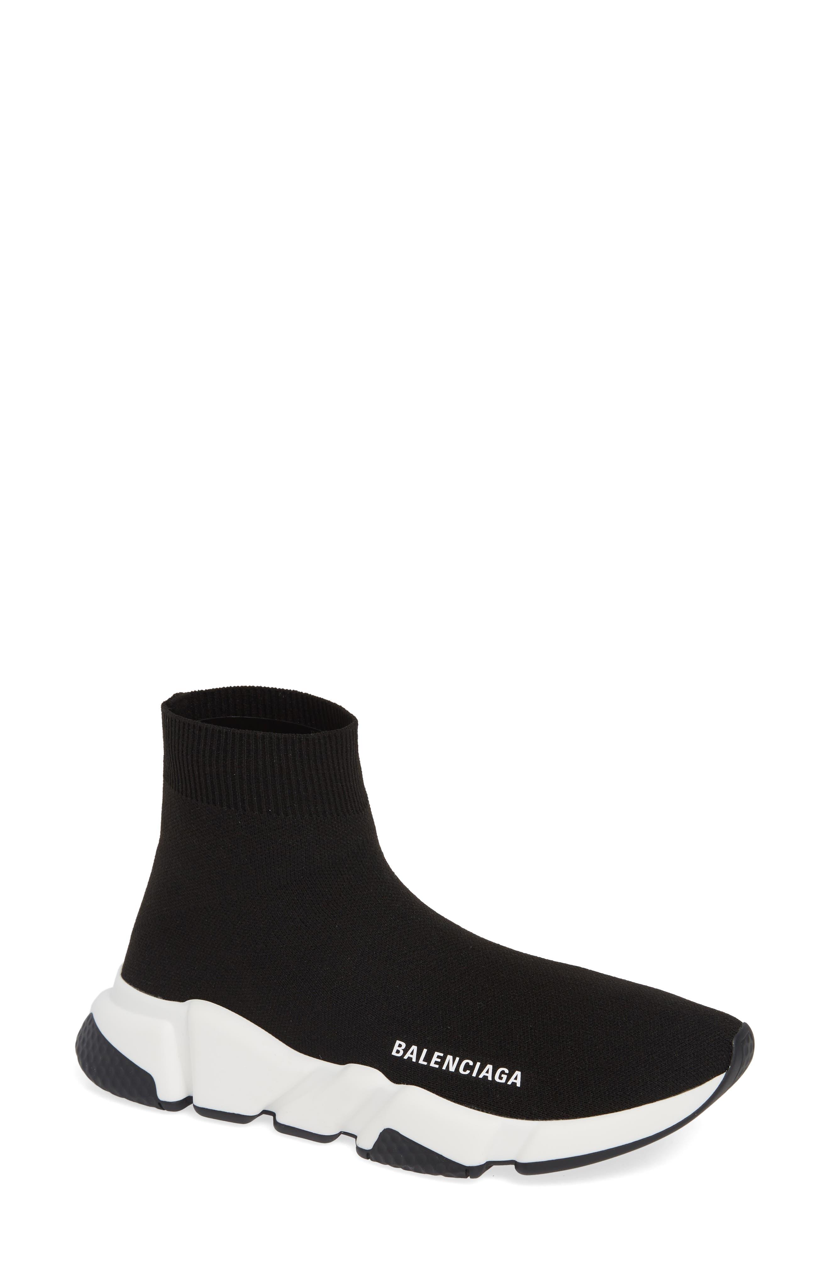 Speed Knit Sneaker,                             Main thumbnail 1, color,                             BLACK