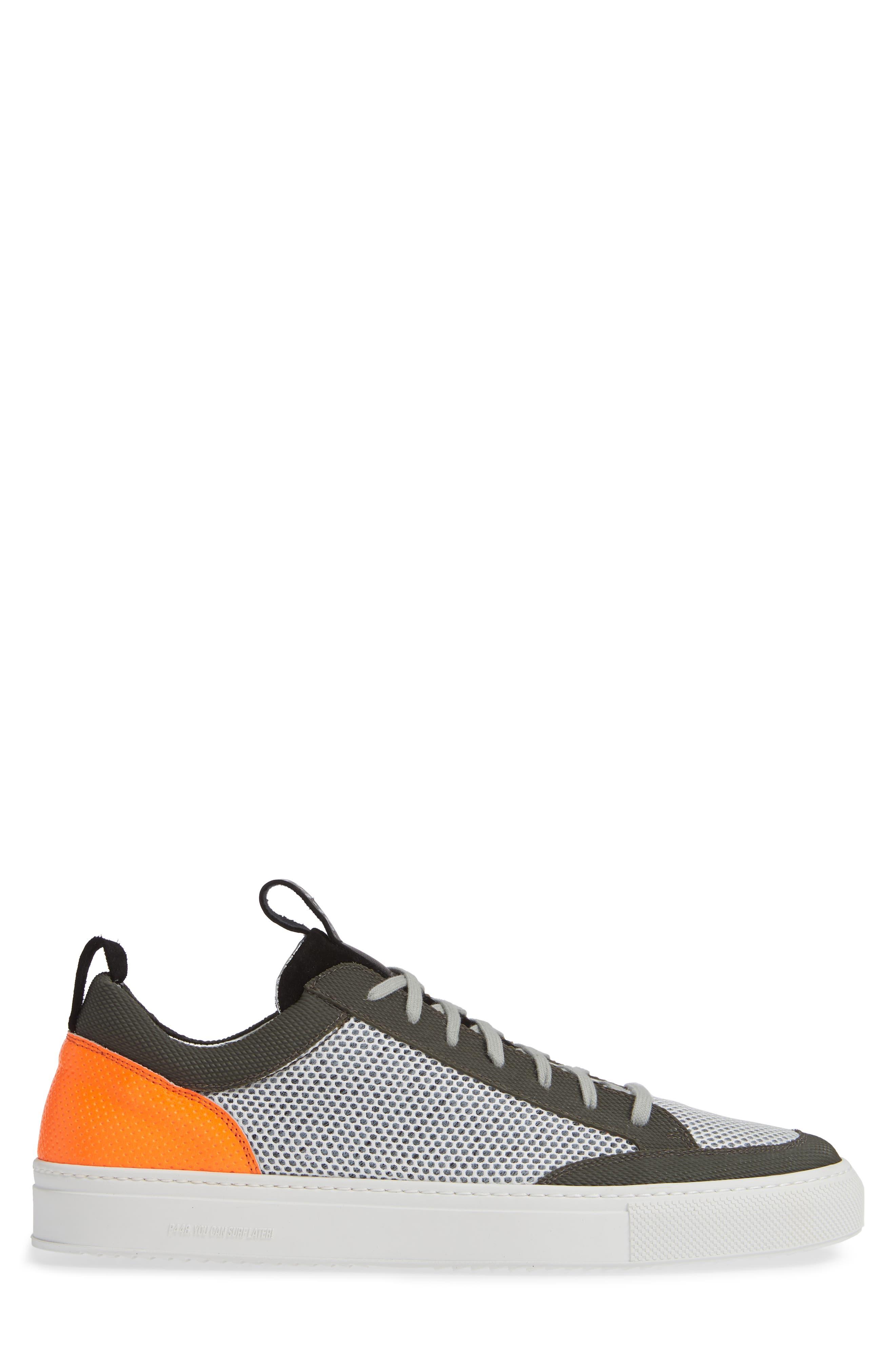 A8Soho Textured Sneaker,                             Alternate thumbnail 3, color,                             WHITE/ GREY