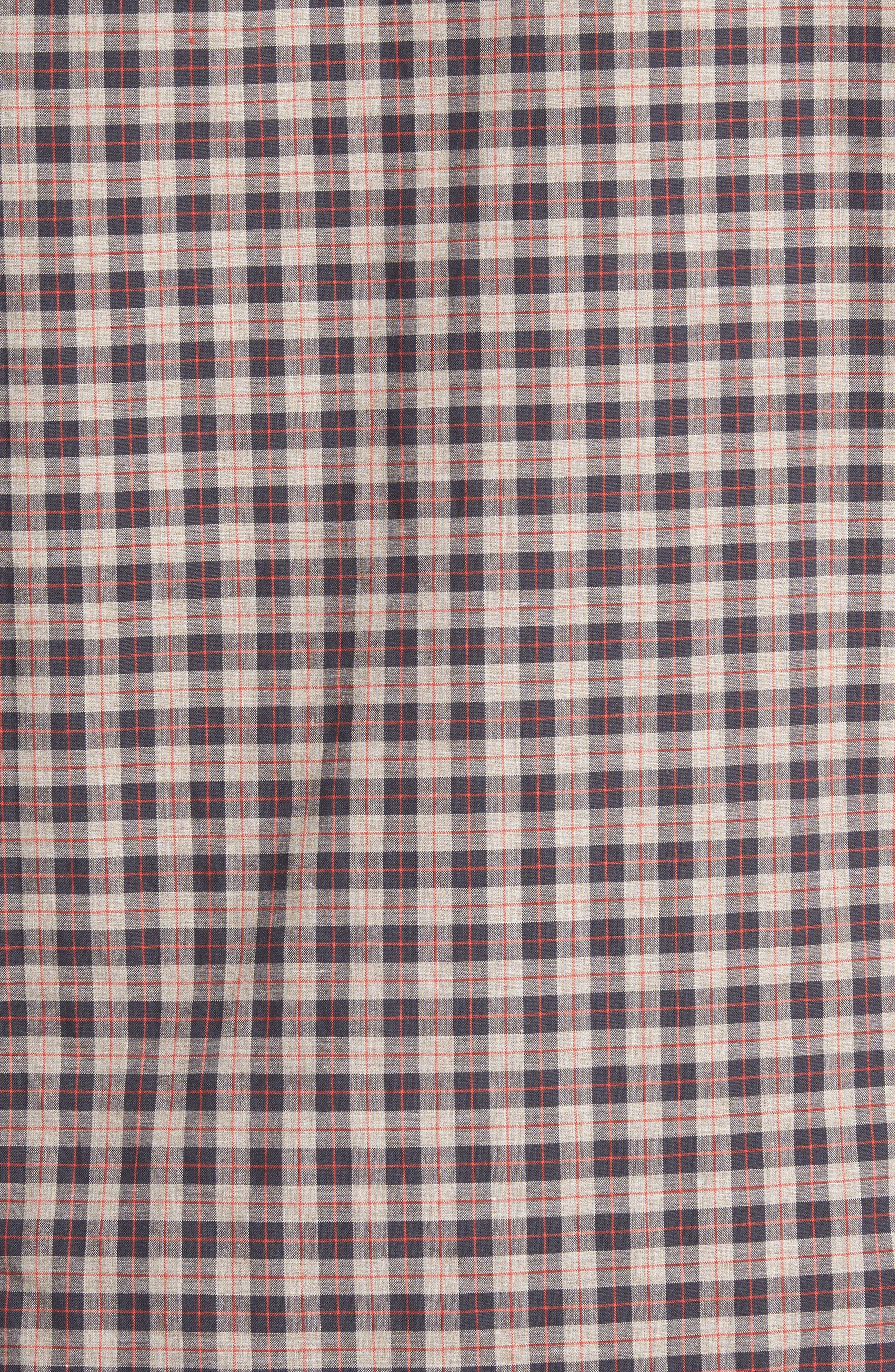 Comfort Fit Plaid Sport Shirt,                             Alternate thumbnail 5, color,                             214