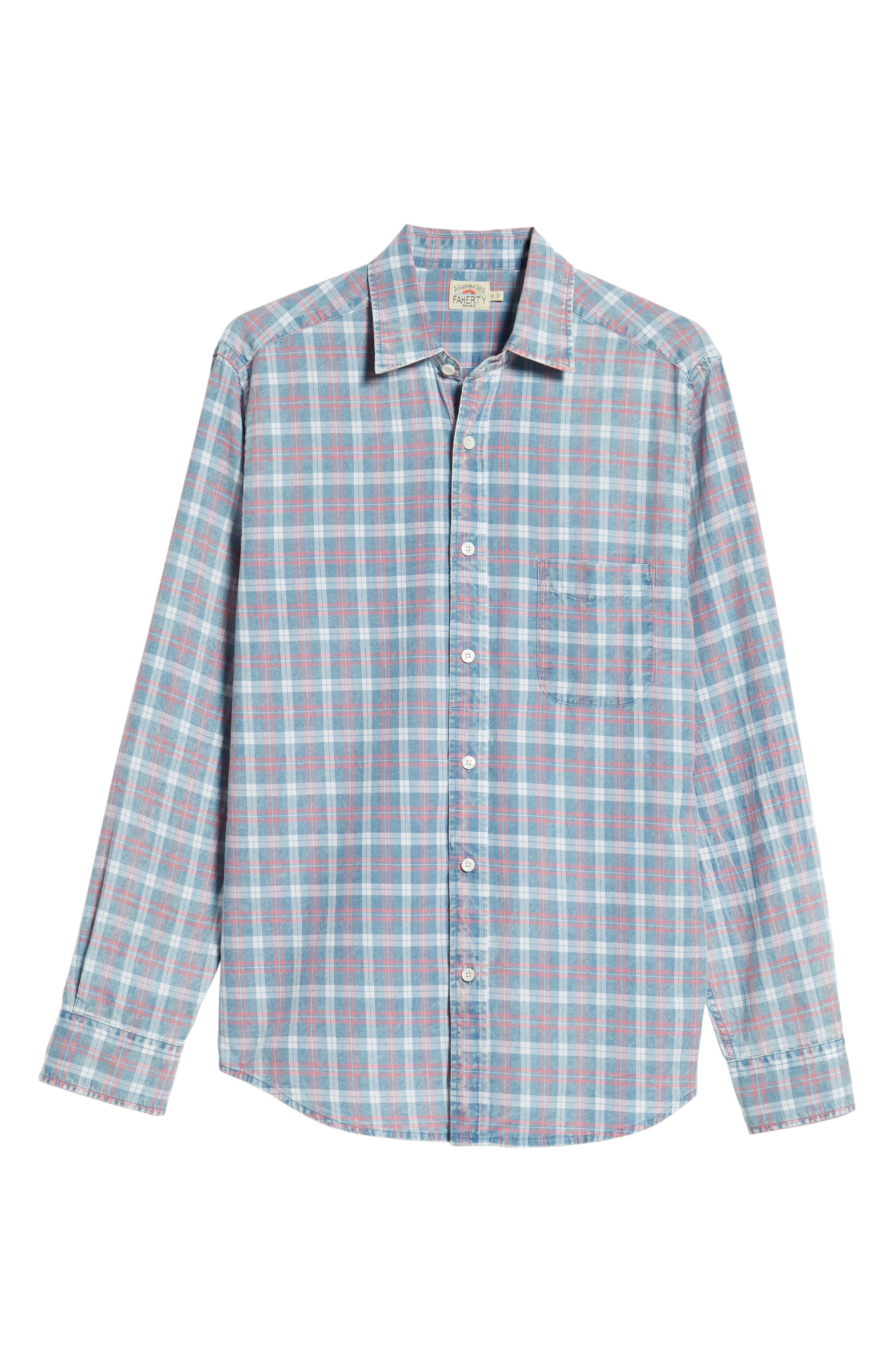 Ventura Check Sport Shirt,                             Alternate thumbnail 5, color,                             421