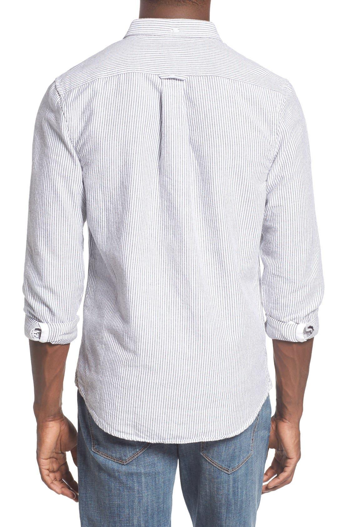 'Baker' Slim Fit Oxford Shirt,                             Alternate thumbnail 2, color,                             001