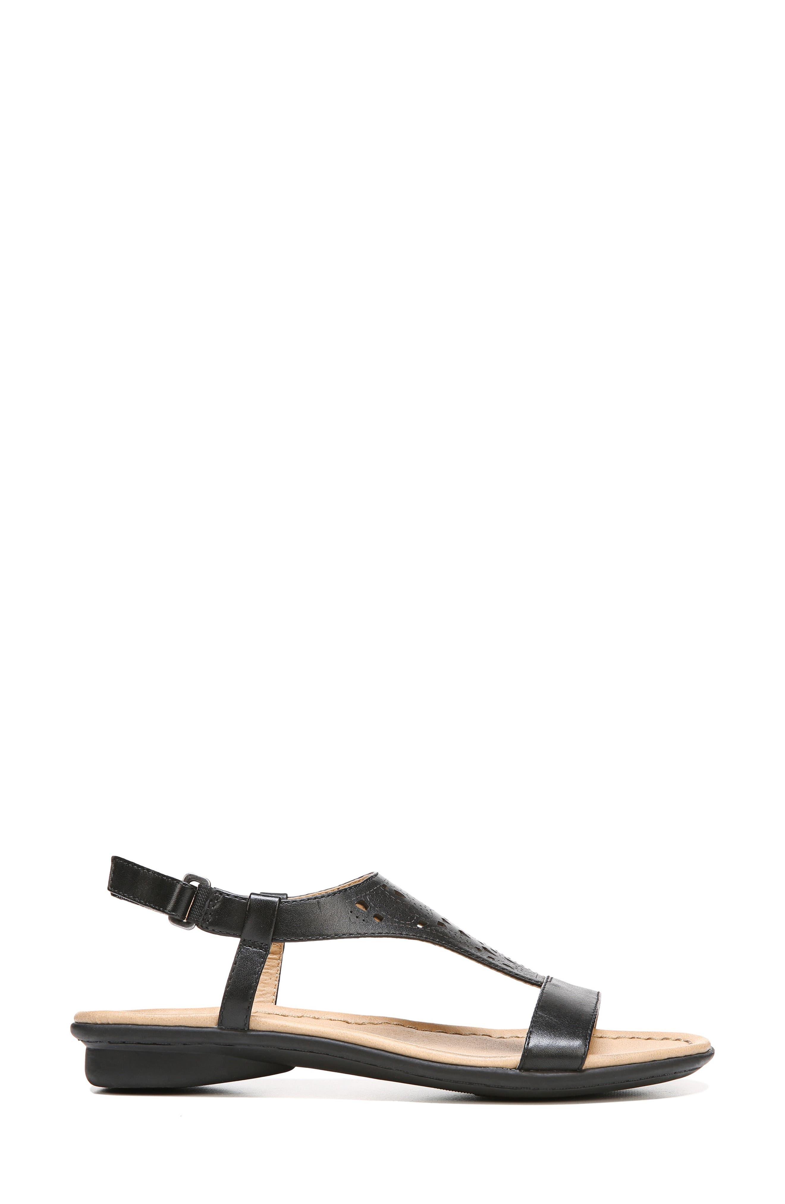 Windham Sandal,                             Alternate thumbnail 3, color,                             BLACK LEATHER