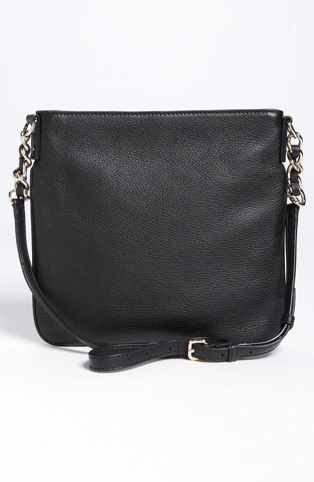 'cobble hill - ellen' leather crossbody bag,                             Alternate thumbnail 6, color,                             001
