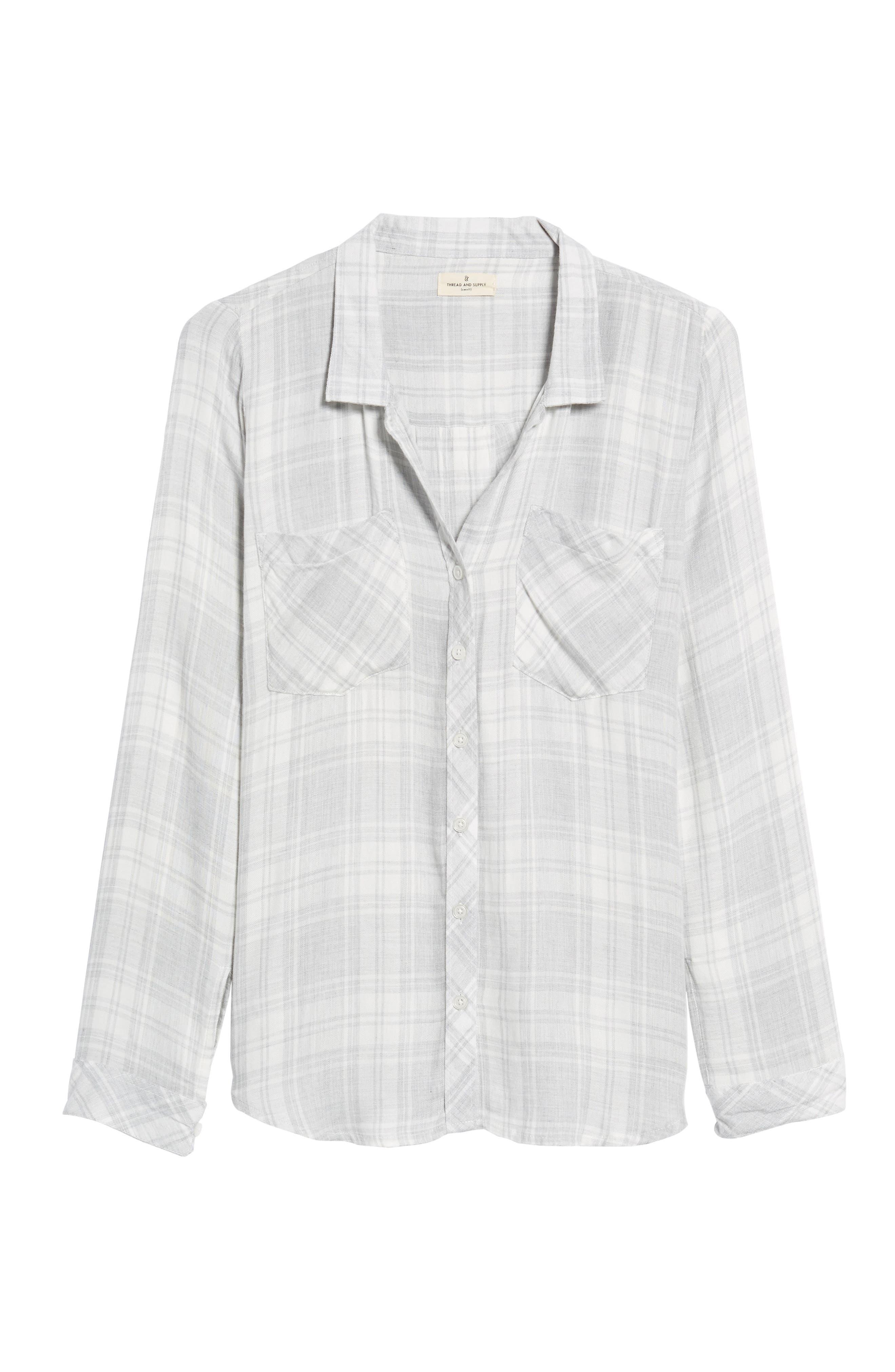 Zoey Plaid Shirt,                             Alternate thumbnail 6, color,                             051