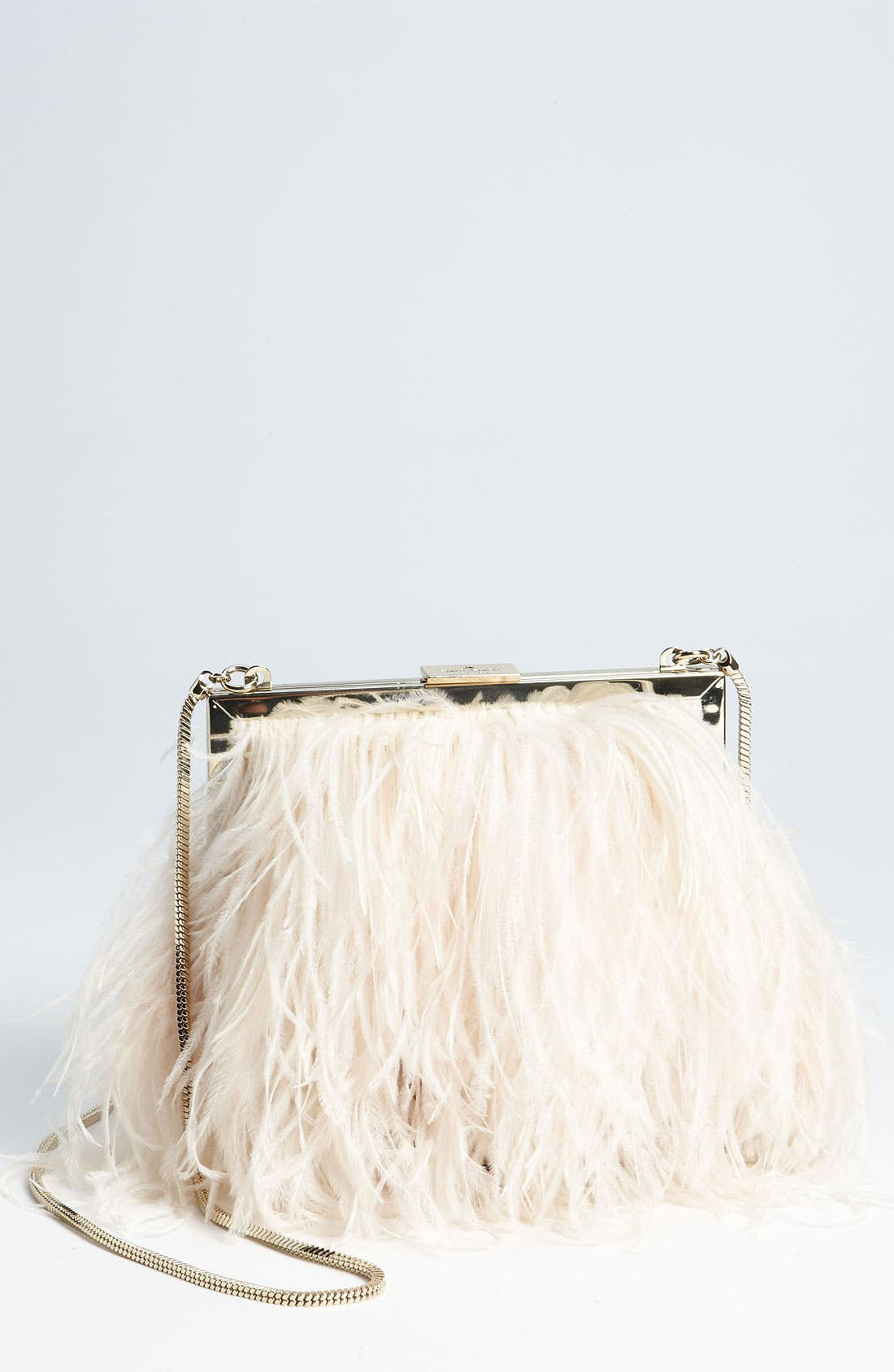 'belle elliana' feather clutch,                             Main thumbnail 1, color,