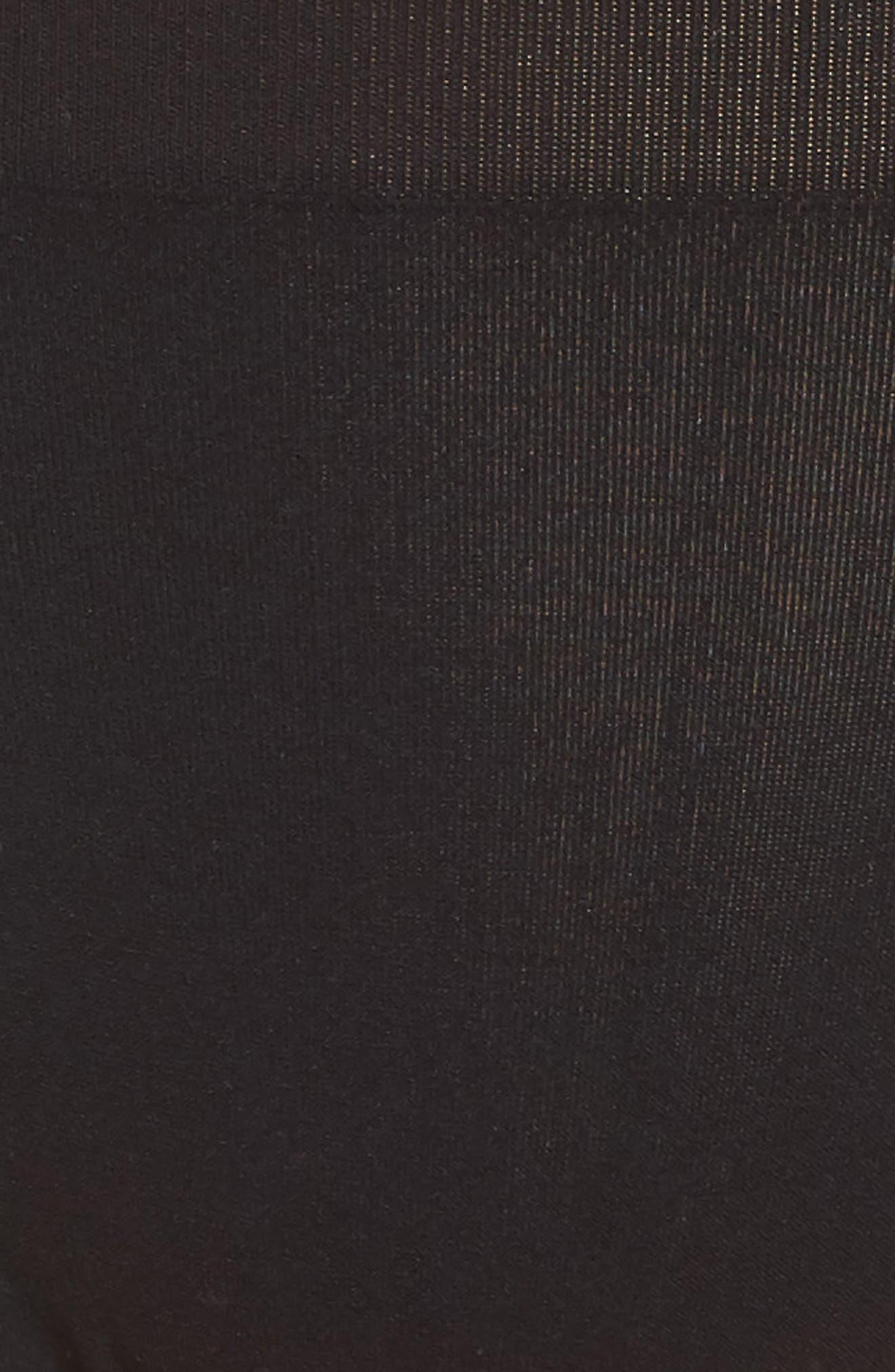 Seamless High Cut Briefs,                             Alternate thumbnail 5, color,                             BLACK