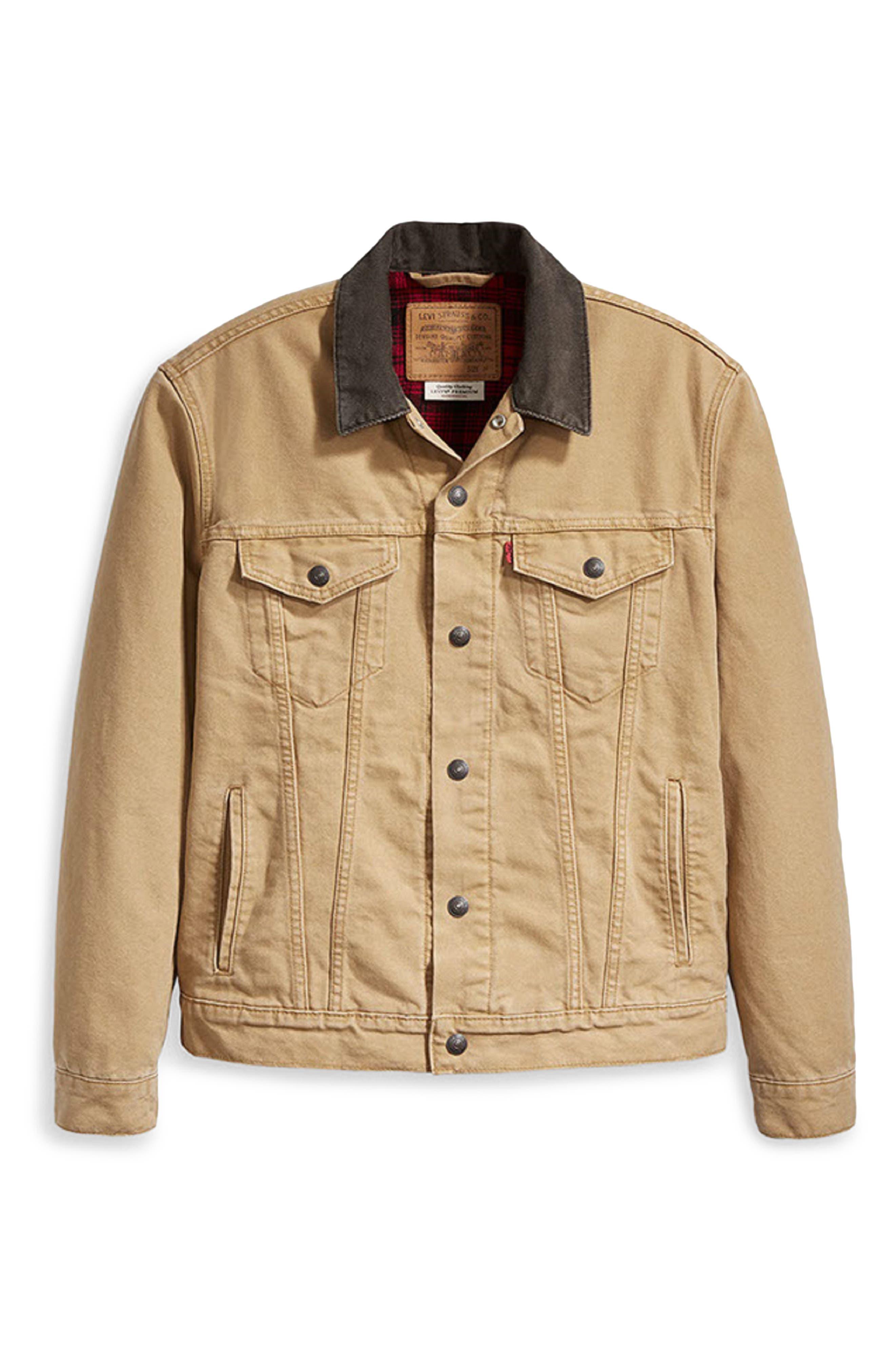 x Justin Timberlake Canvas Trucker Jacket,                             Alternate thumbnail 7, color,                             DIJON