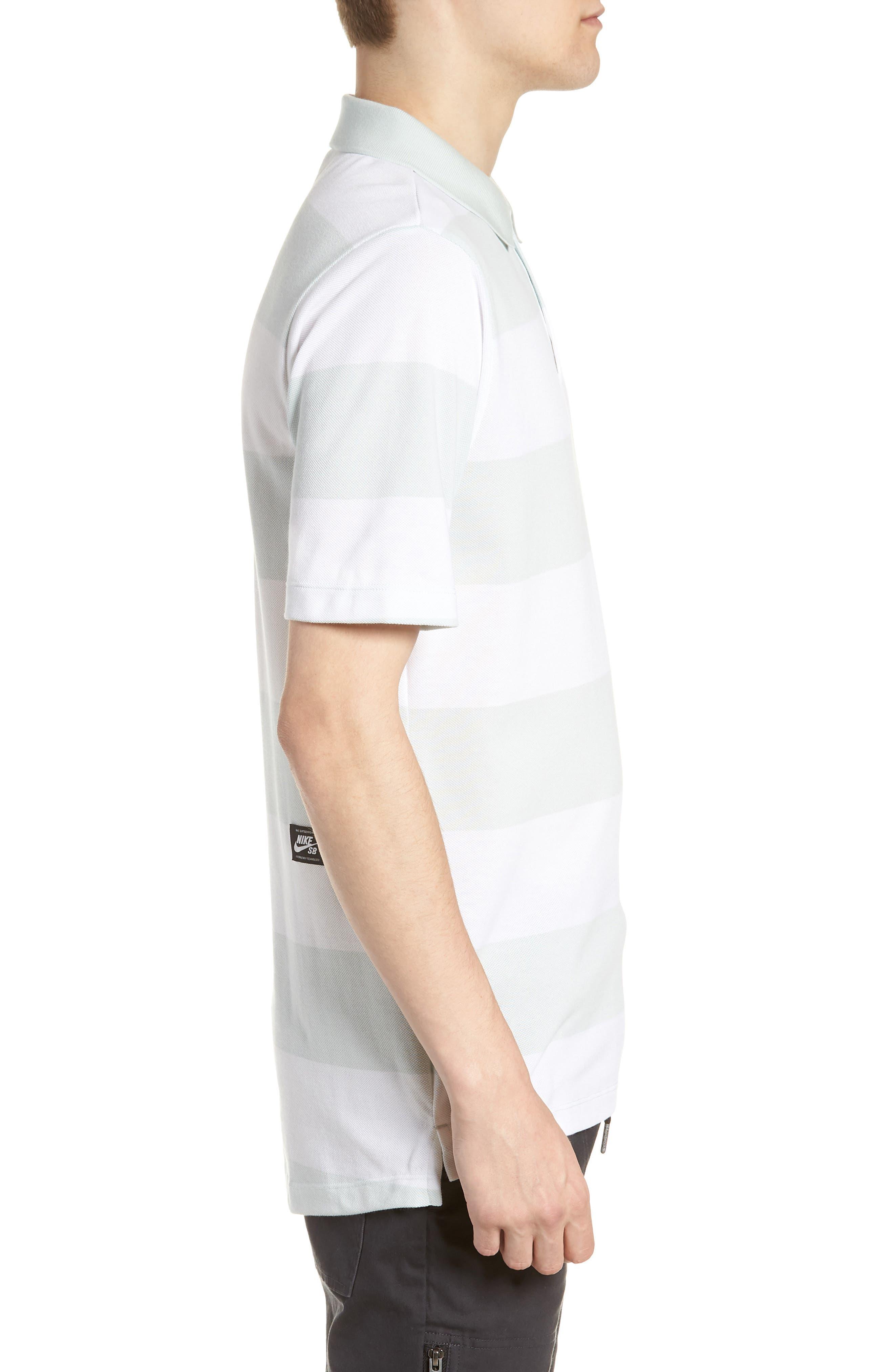 SB Dry Stripe Polo Shirt,                             Alternate thumbnail 3, color,                             BARELY GREY/ BARELY GREY