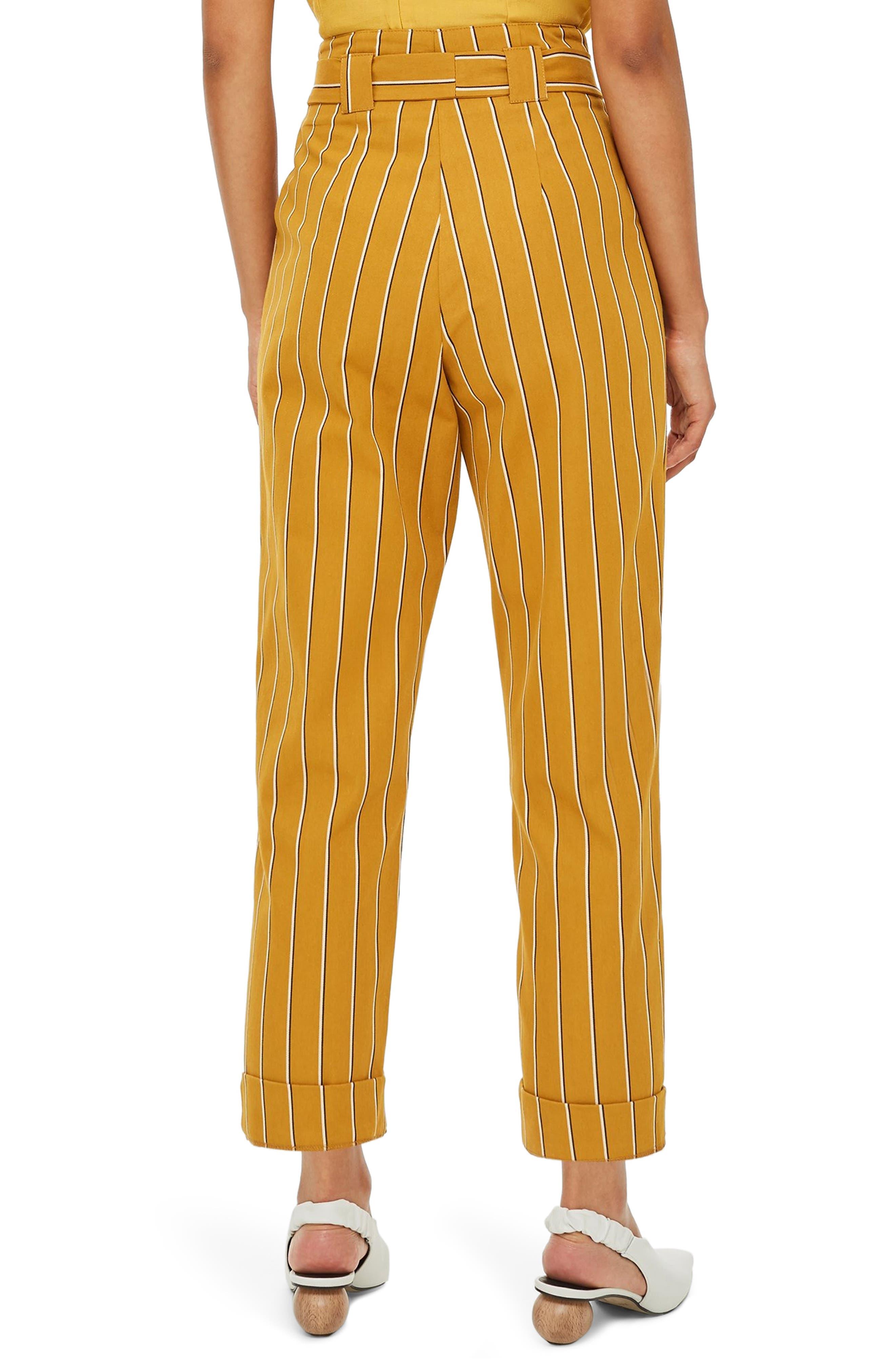 Polly Stripe Peg Trousers,                             Alternate thumbnail 2, color,                             MUSTARD MULTI