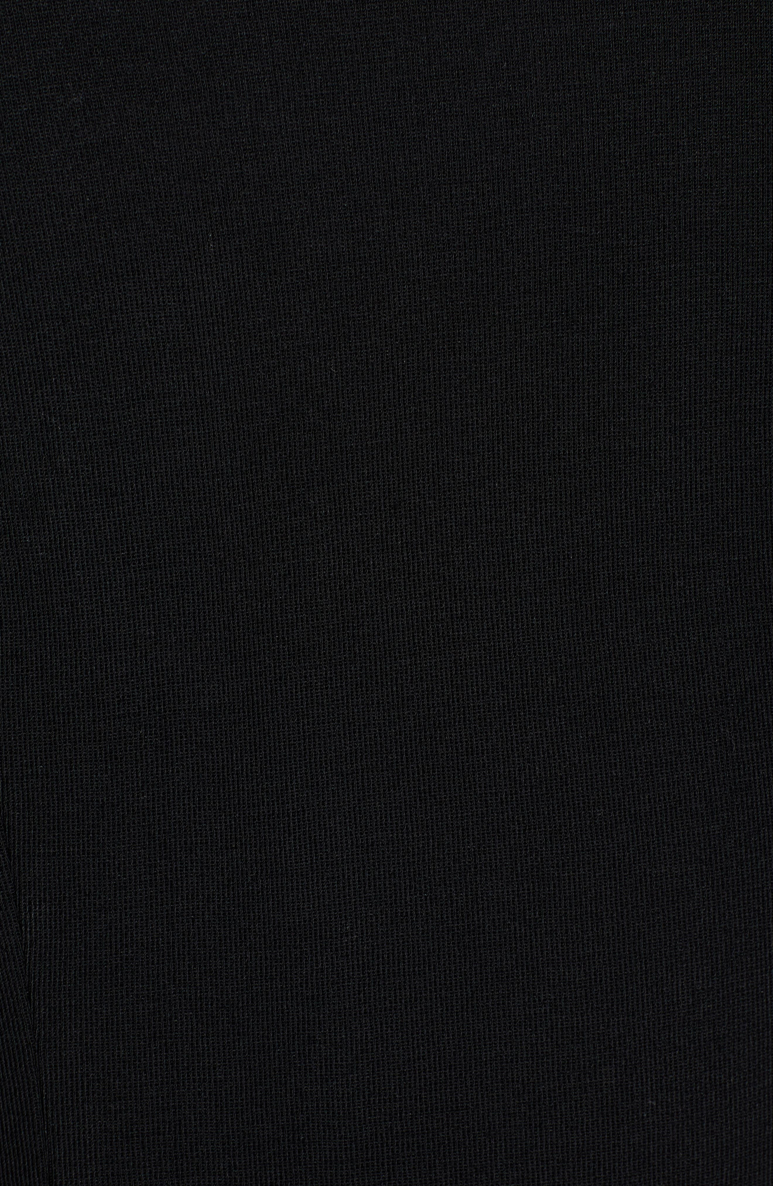 Contrast Jacquard Sweater Jacket,                             Alternate thumbnail 7, color,                             BLACK/ WHITE