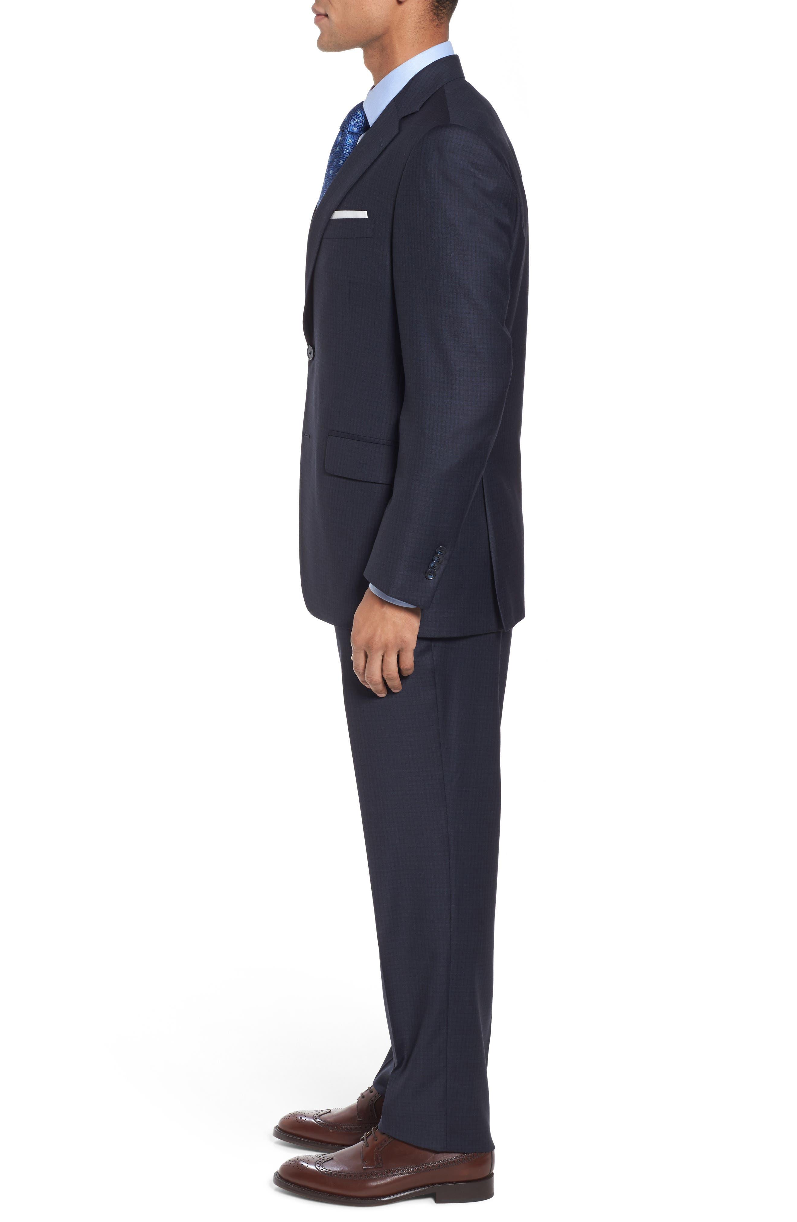 Classic Fit Check Wool Suit,                             Alternate thumbnail 3, color,                             410