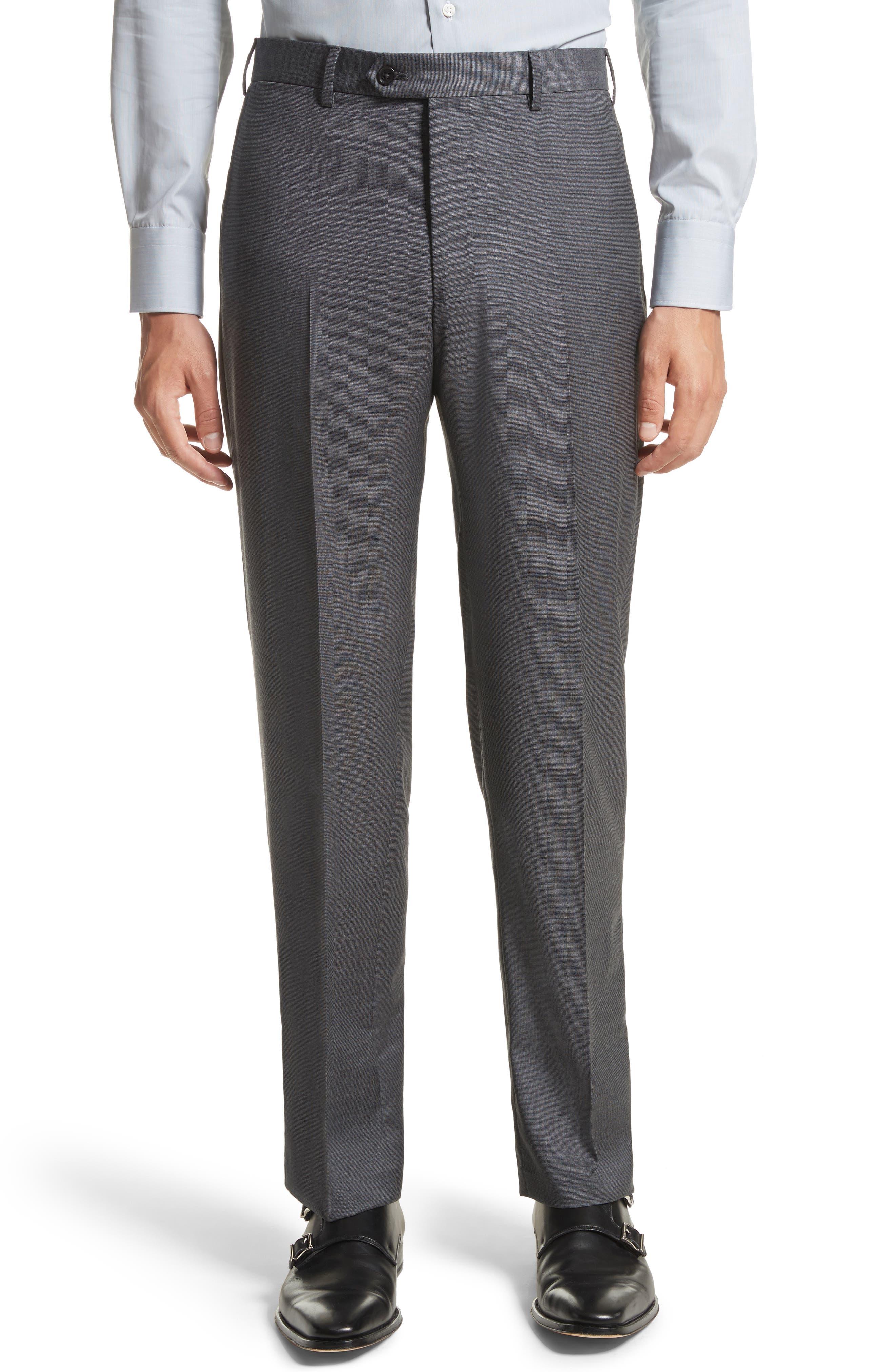 G-Line Trim Fit Solid Wool Suit,                             Alternate thumbnail 6, color,                             032