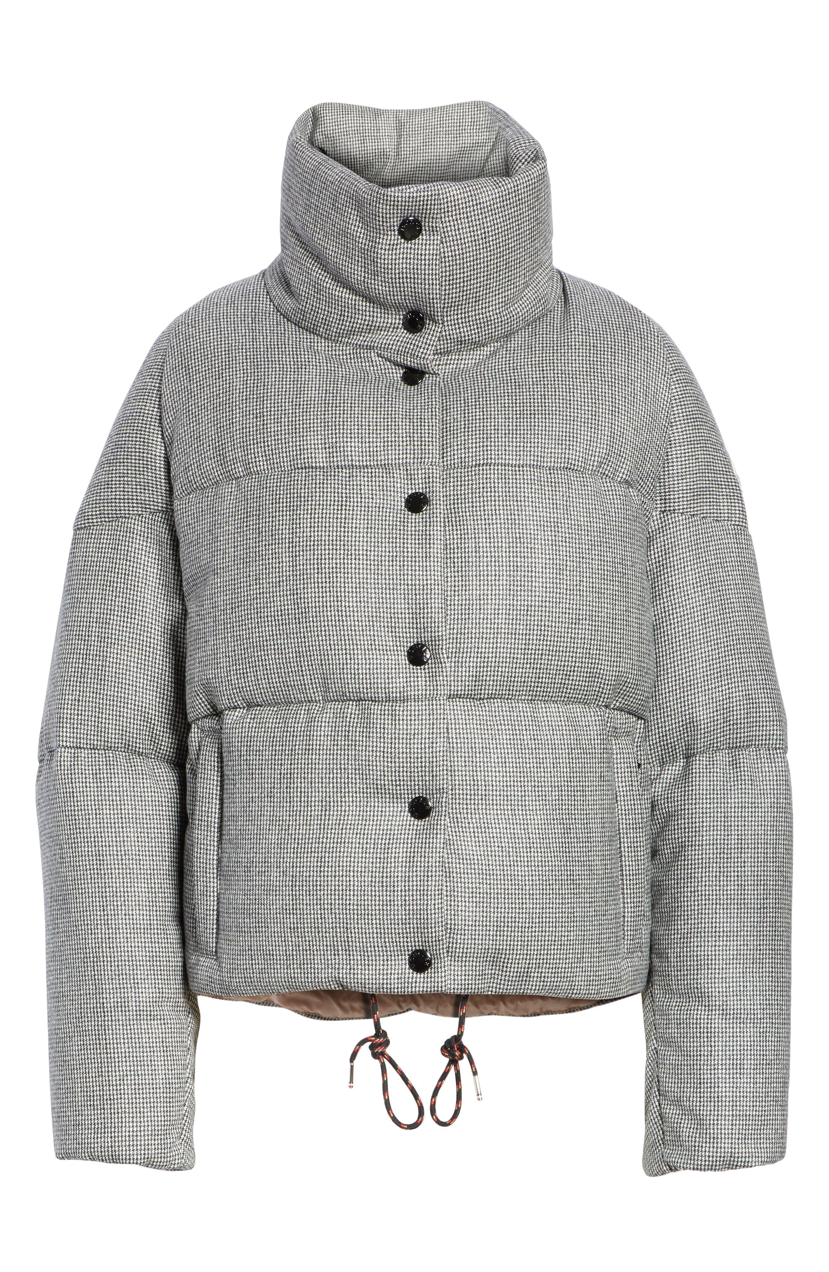 MONCLER,                             Cer Wool Down Puffer Jacket,                             Alternate thumbnail 5, color,                             BLACK