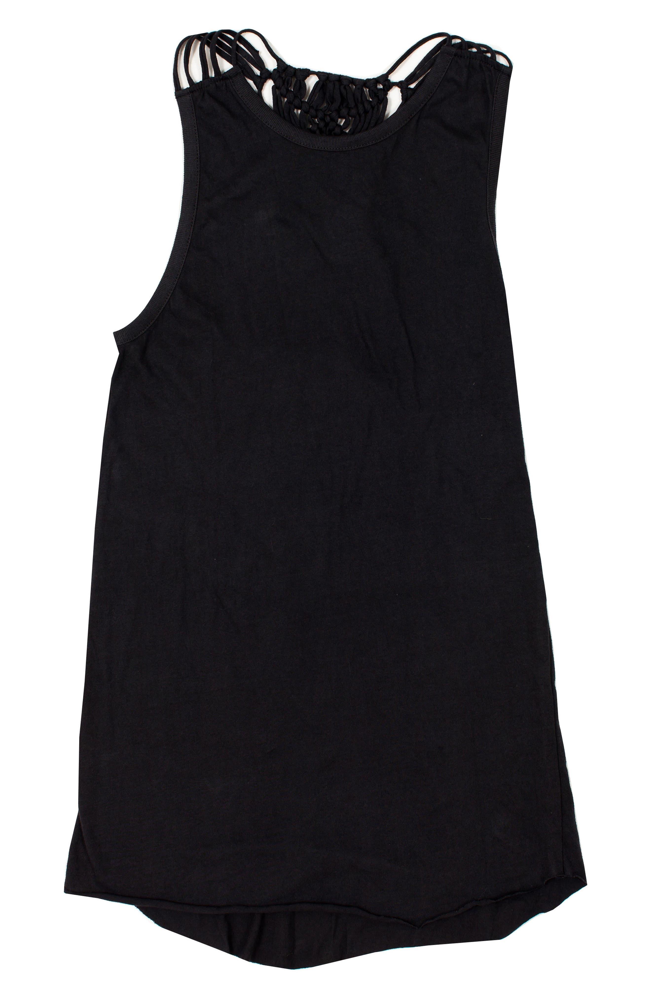 Knotted Up Macramé Back Dress,                         Main,                         color, TITANIUM