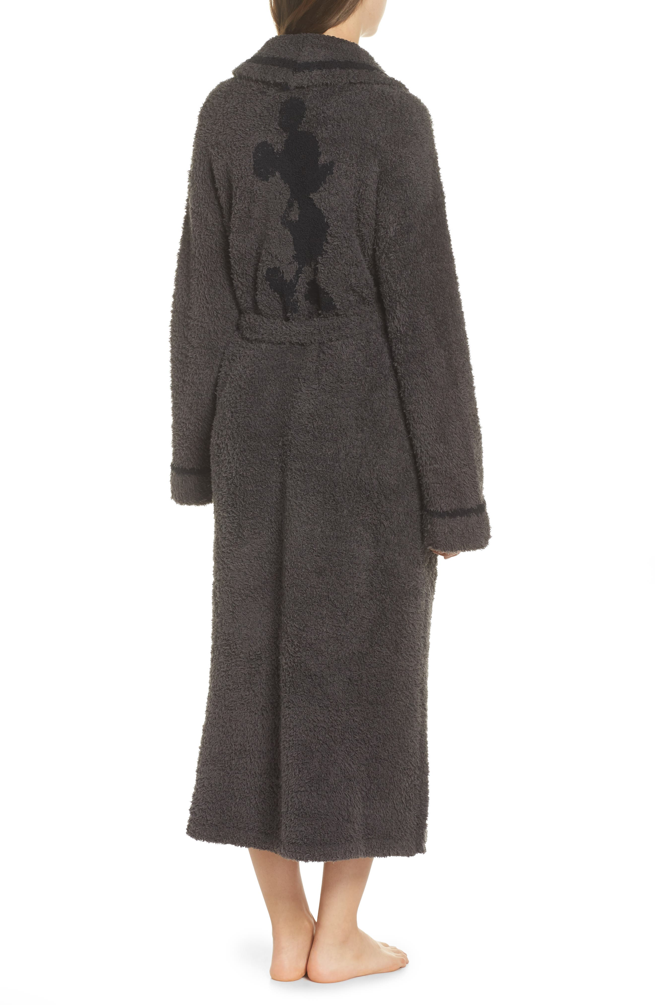 x Disney Classic Series CozyChic<sup>®</sup> Robe,                             Alternate thumbnail 2, color,                             CARBON/ BLACK