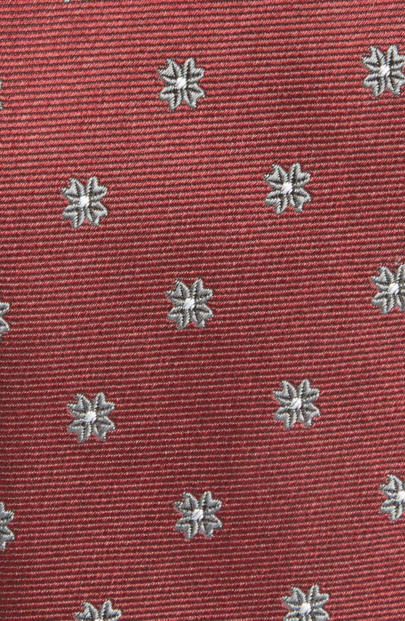 Floral Span Medallion Silk Tie,                             Alternate thumbnail 8, color,