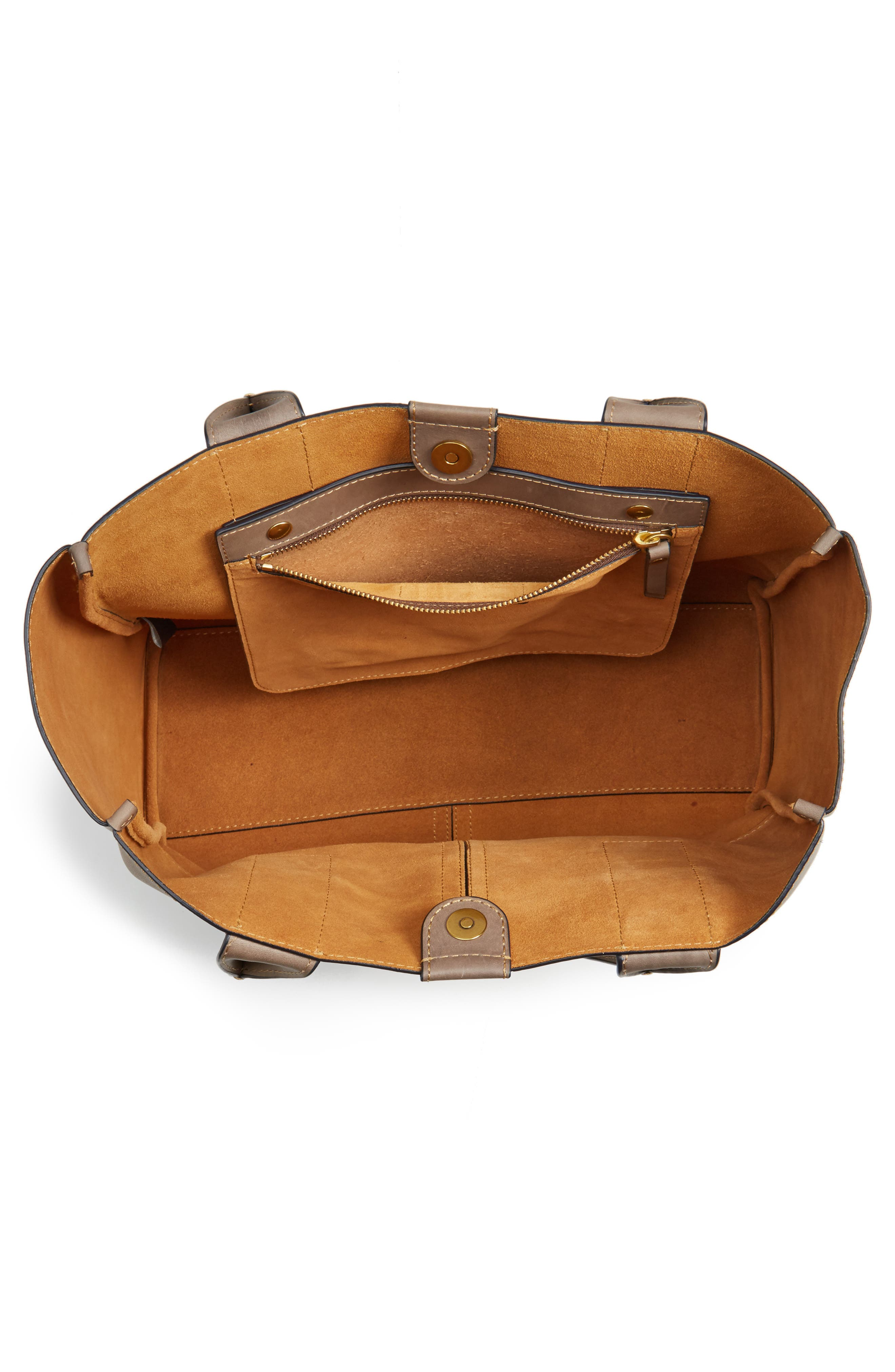 Ilana Harness Leather Shopper,                             Alternate thumbnail 4, color,                             030