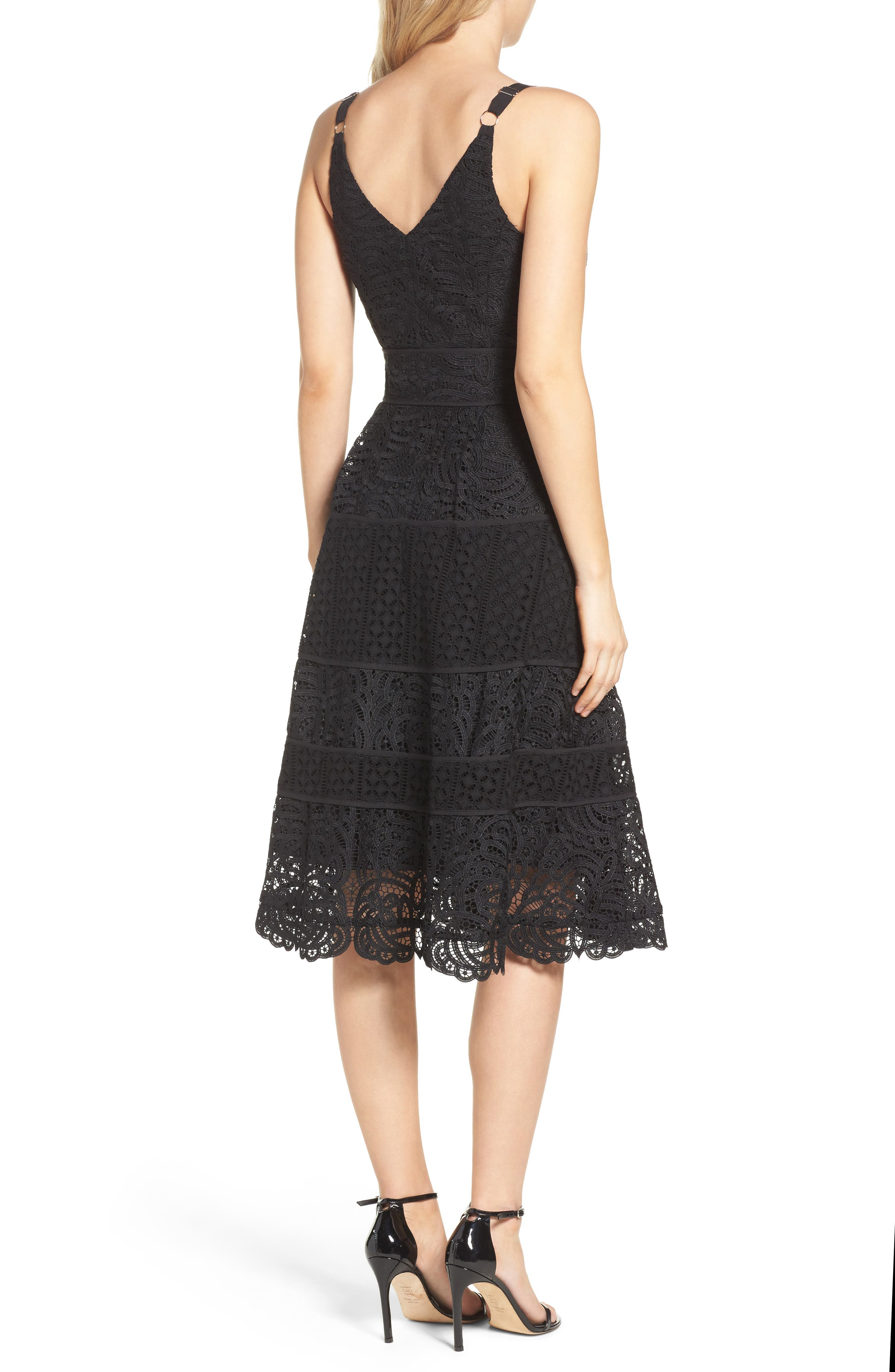 Fit & Flare Midi Dress,                             Alternate thumbnail 6, color,