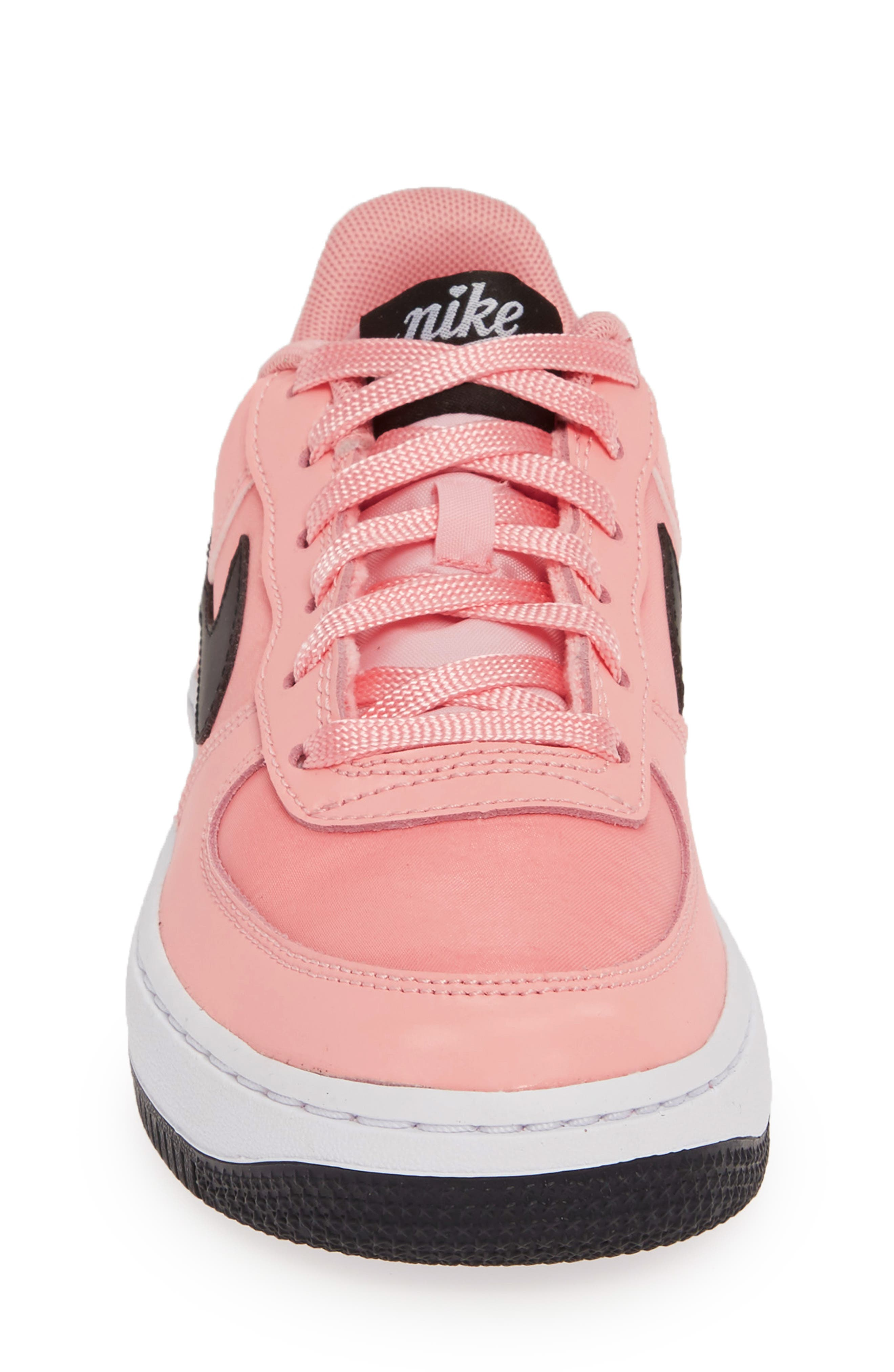 Air Force 1 VDAY Sneaker,                             Alternate thumbnail 4, color,                             BLEACHED CORAL/ BLACK-WHITE