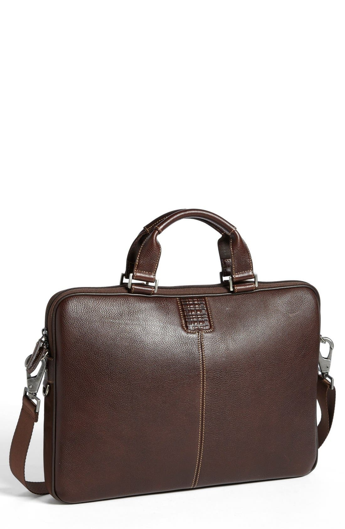 'Tyler' Leather Laptop Briefcase,                             Main thumbnail 2, color,