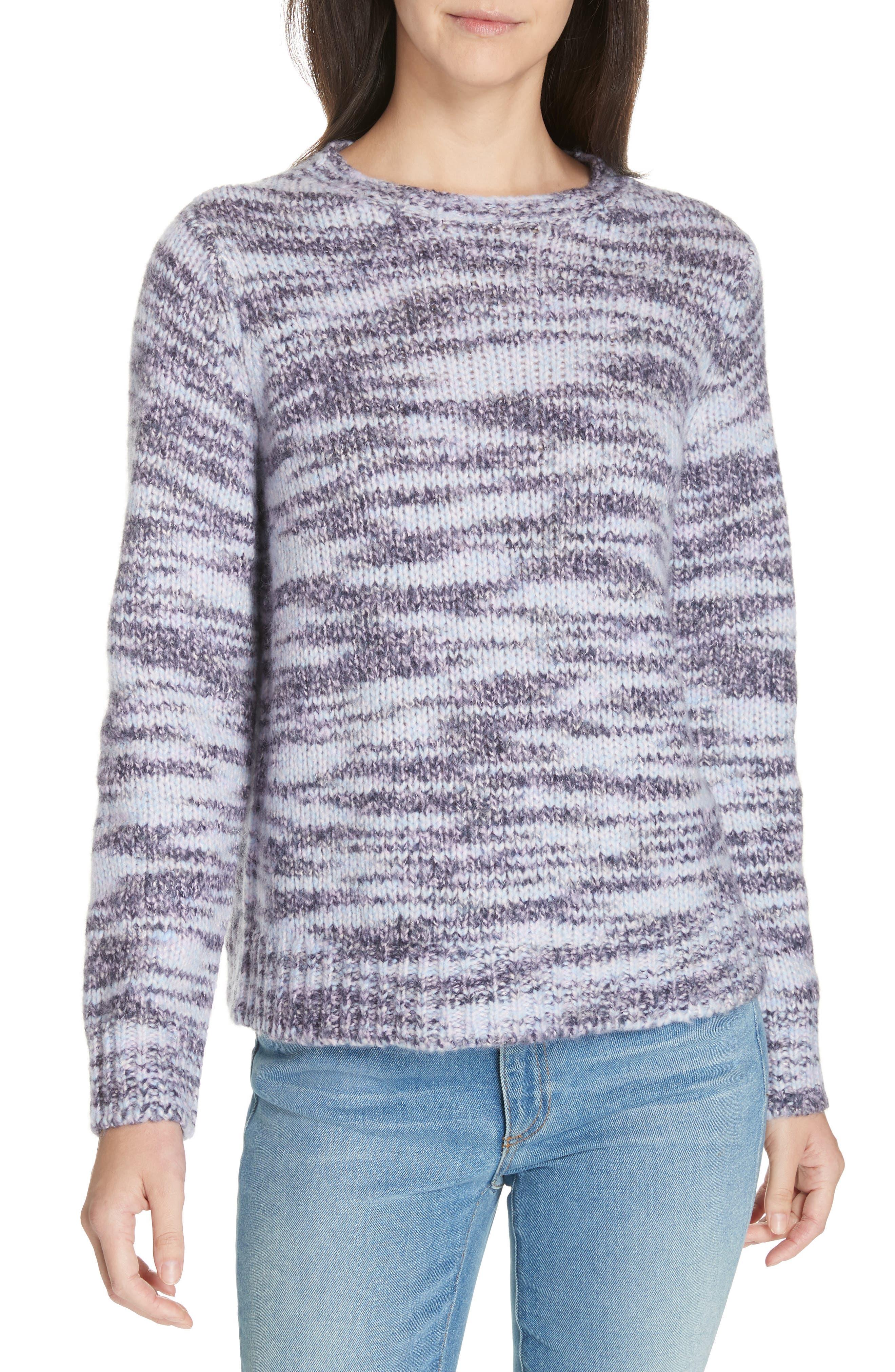 Eileen Fisher Merino Wool & Silk Sweater, Blue