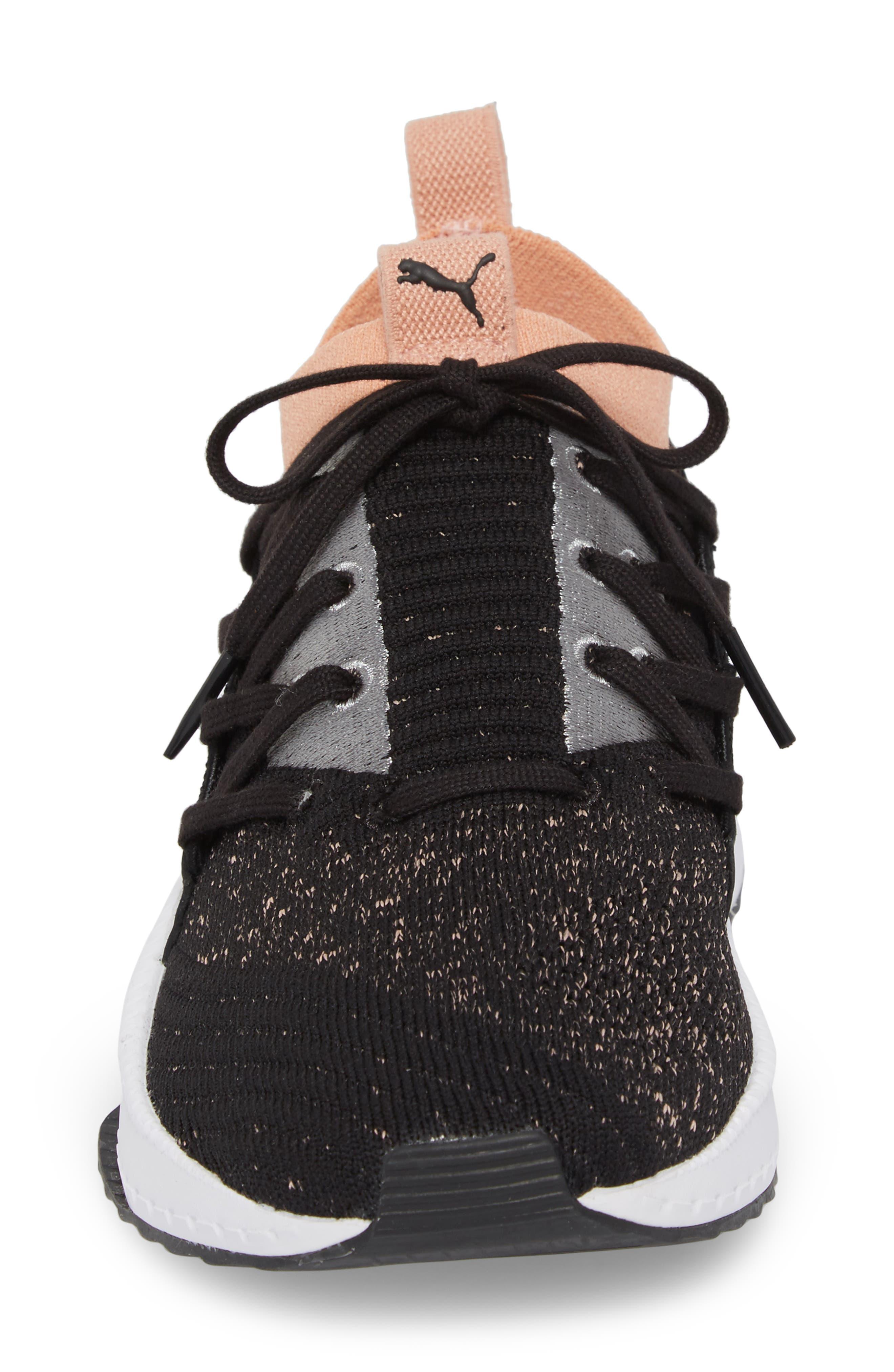 Tsugi Jun Knit Sneaker,                             Alternate thumbnail 4, color,                             001