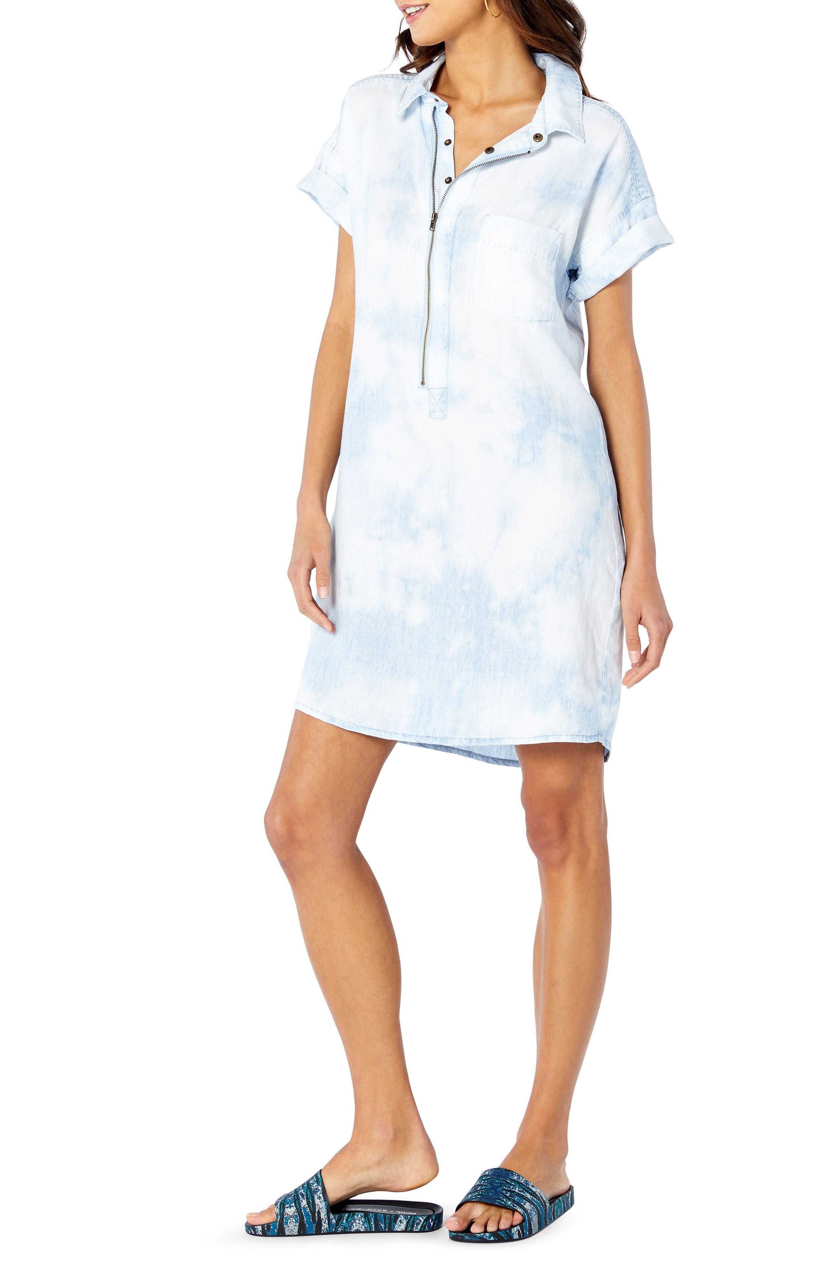 Shirt Dress,                             Alternate thumbnail 3, color,                             144