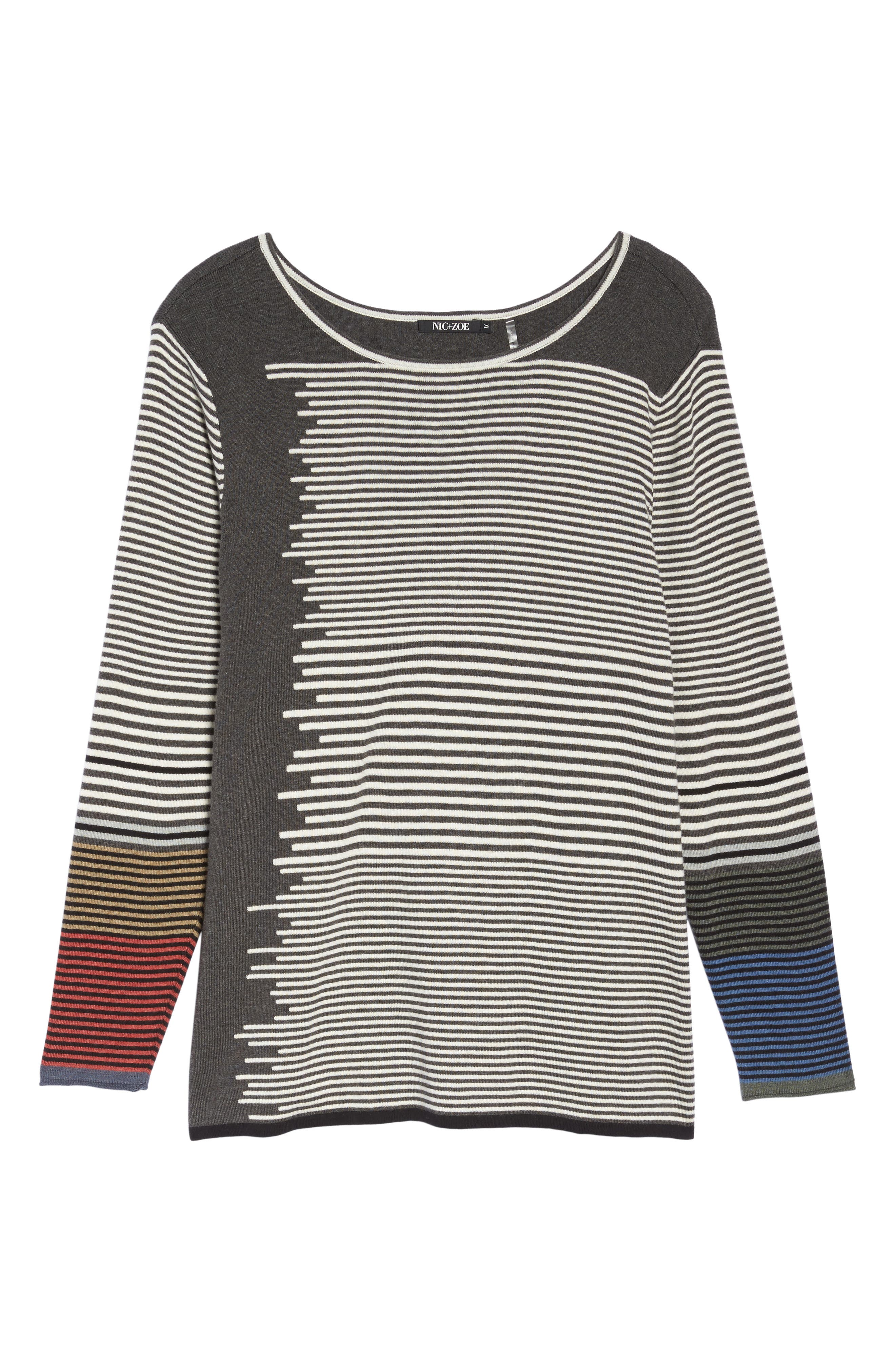 Metro Stripe Sweater,                             Alternate thumbnail 6, color,                             020