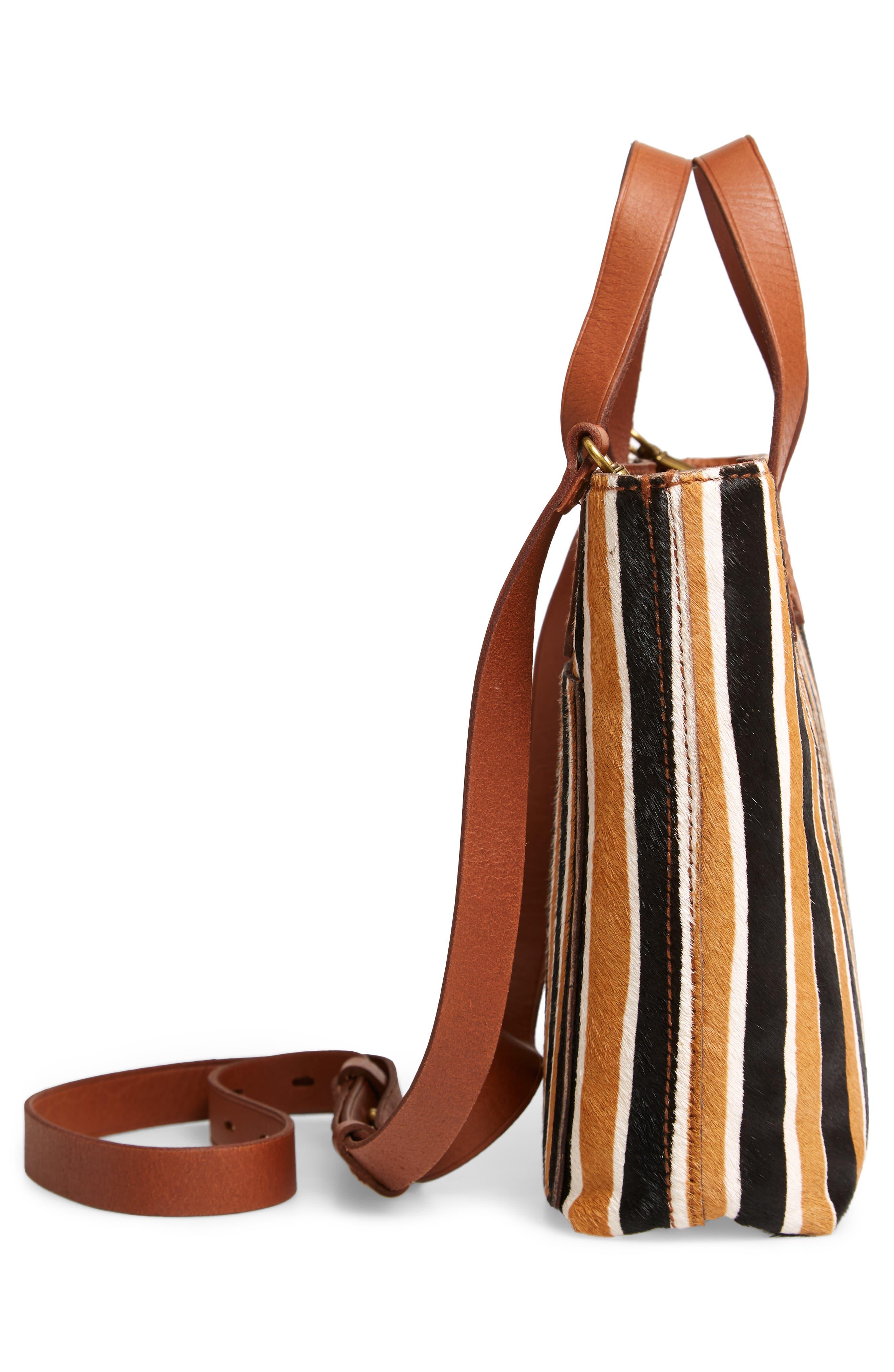 The Small Transport Genuine Calf Hair Crossbody Bag,                             Alternate thumbnail 5, color,                             ACORN MULTI