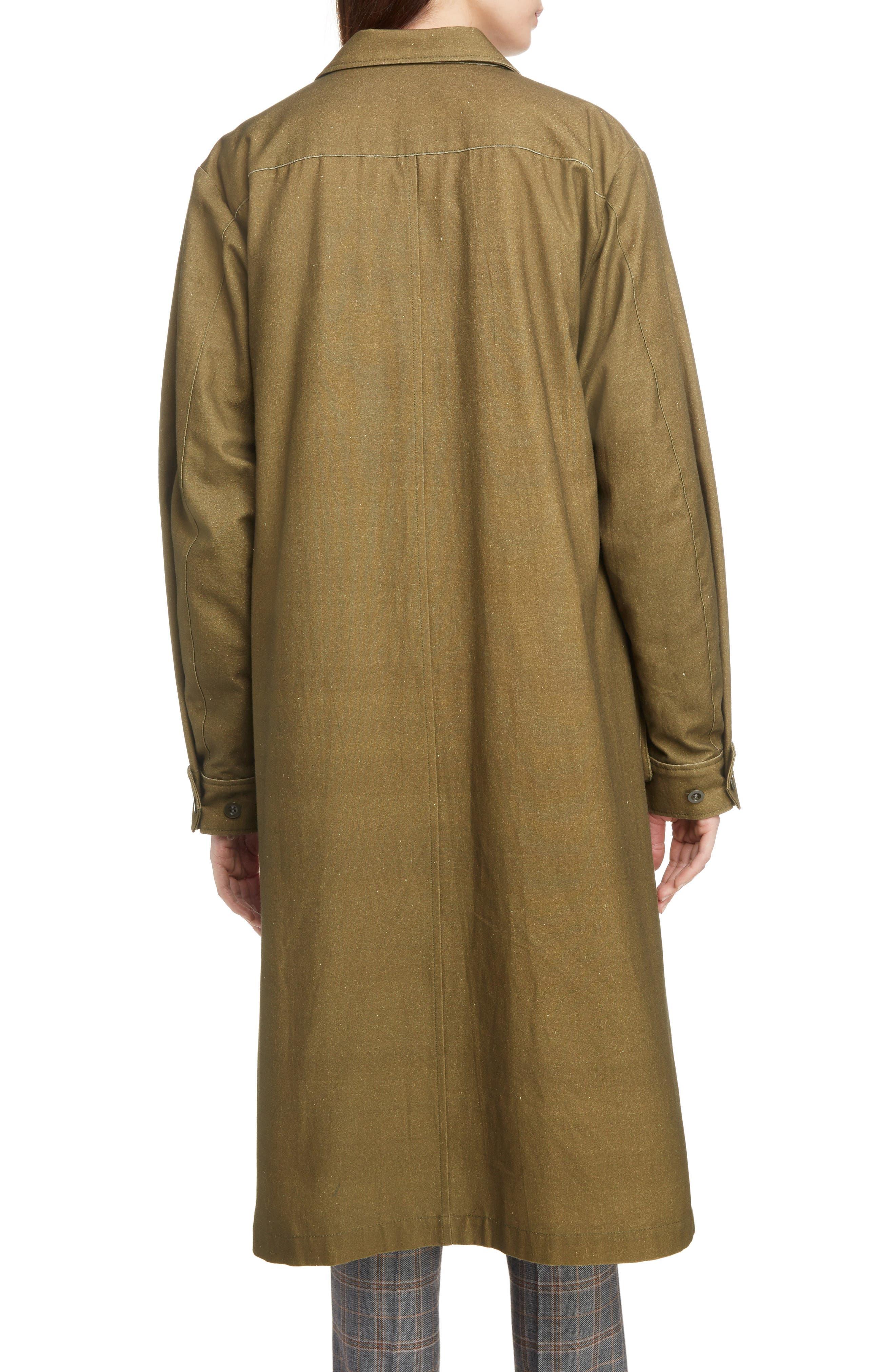 Gabardine Coat,                             Alternate thumbnail 2, color,                             09/ KHAKI
