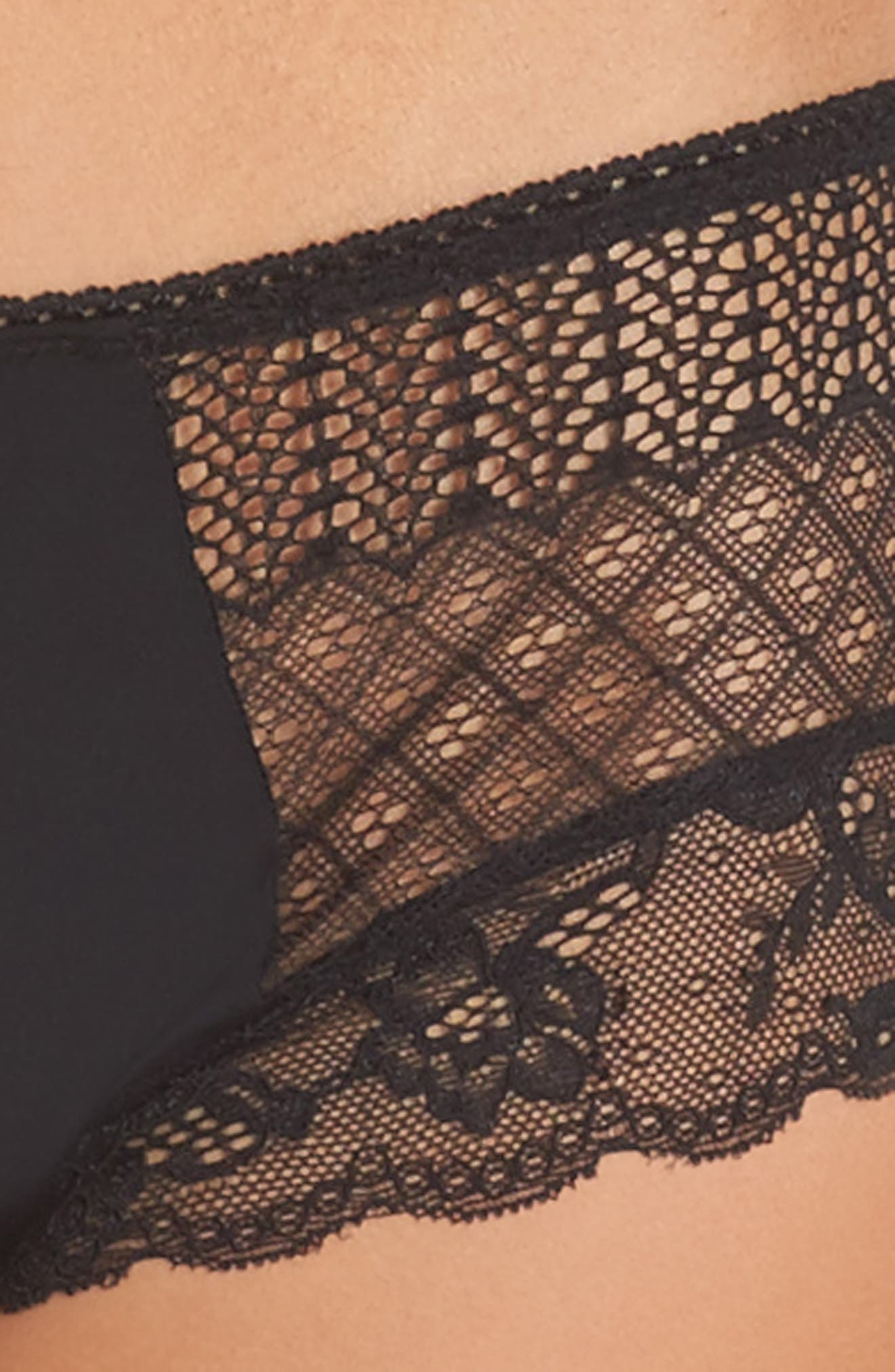 Honeydew Microfiber & Lace Hipster Panties,                             Alternate thumbnail 10, color,