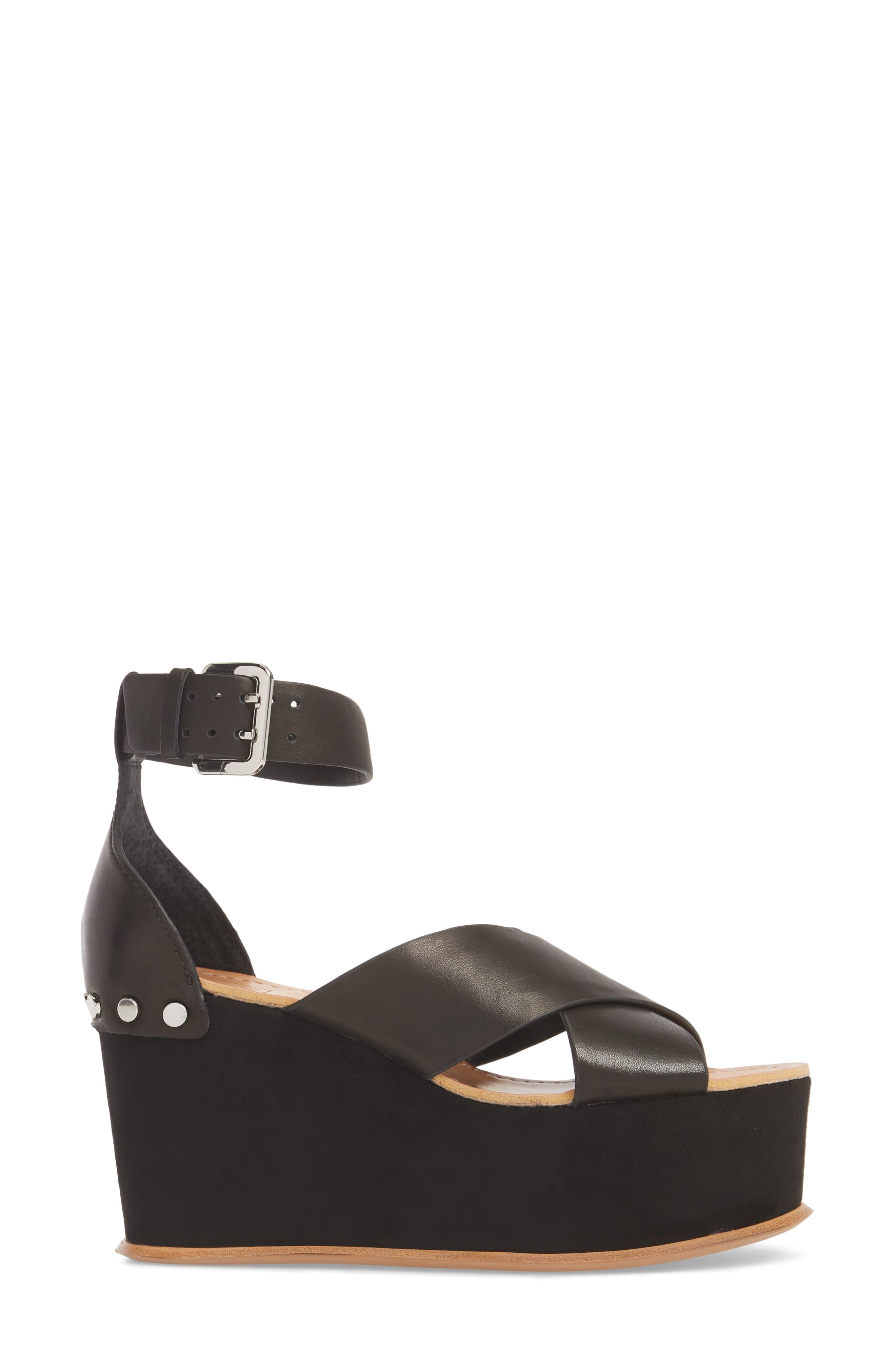 DOLCE VITA,                             Dalrae Platform Wedge Sandal,                             Alternate thumbnail 3, color,                             001