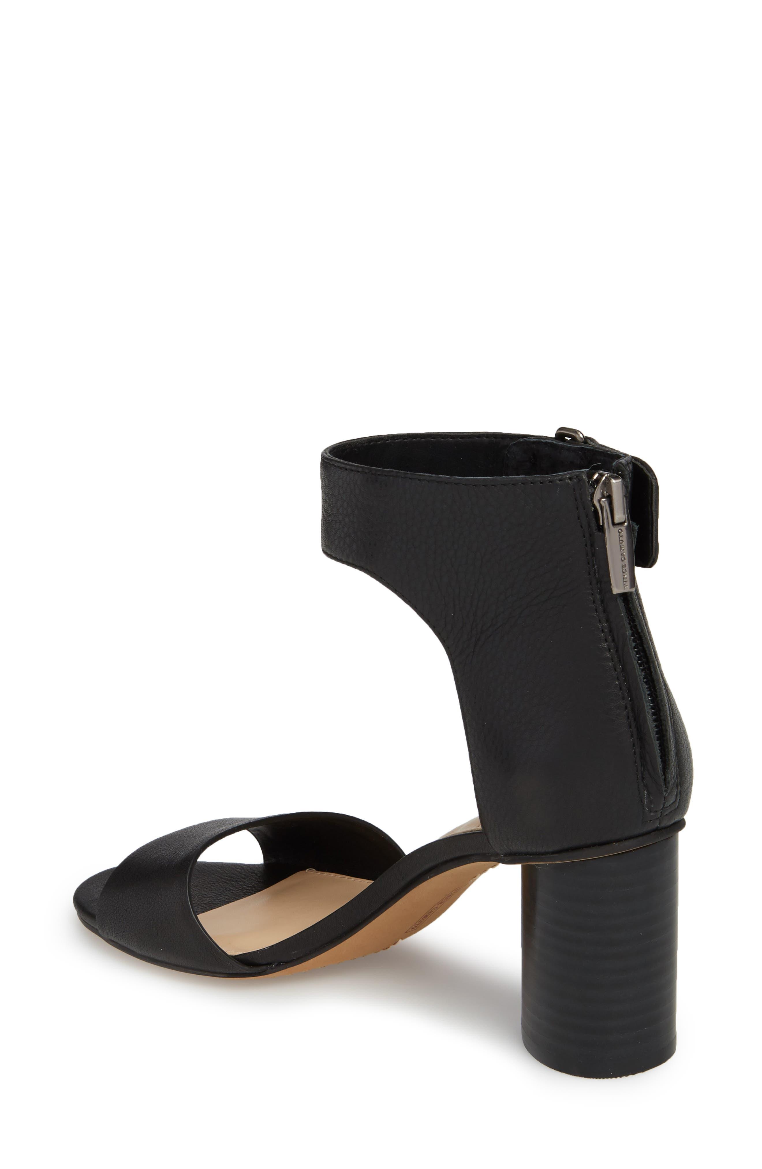 Jannali Ankle Strap Sandal,                             Alternate thumbnail 2, color,                             BLACK LEATHER