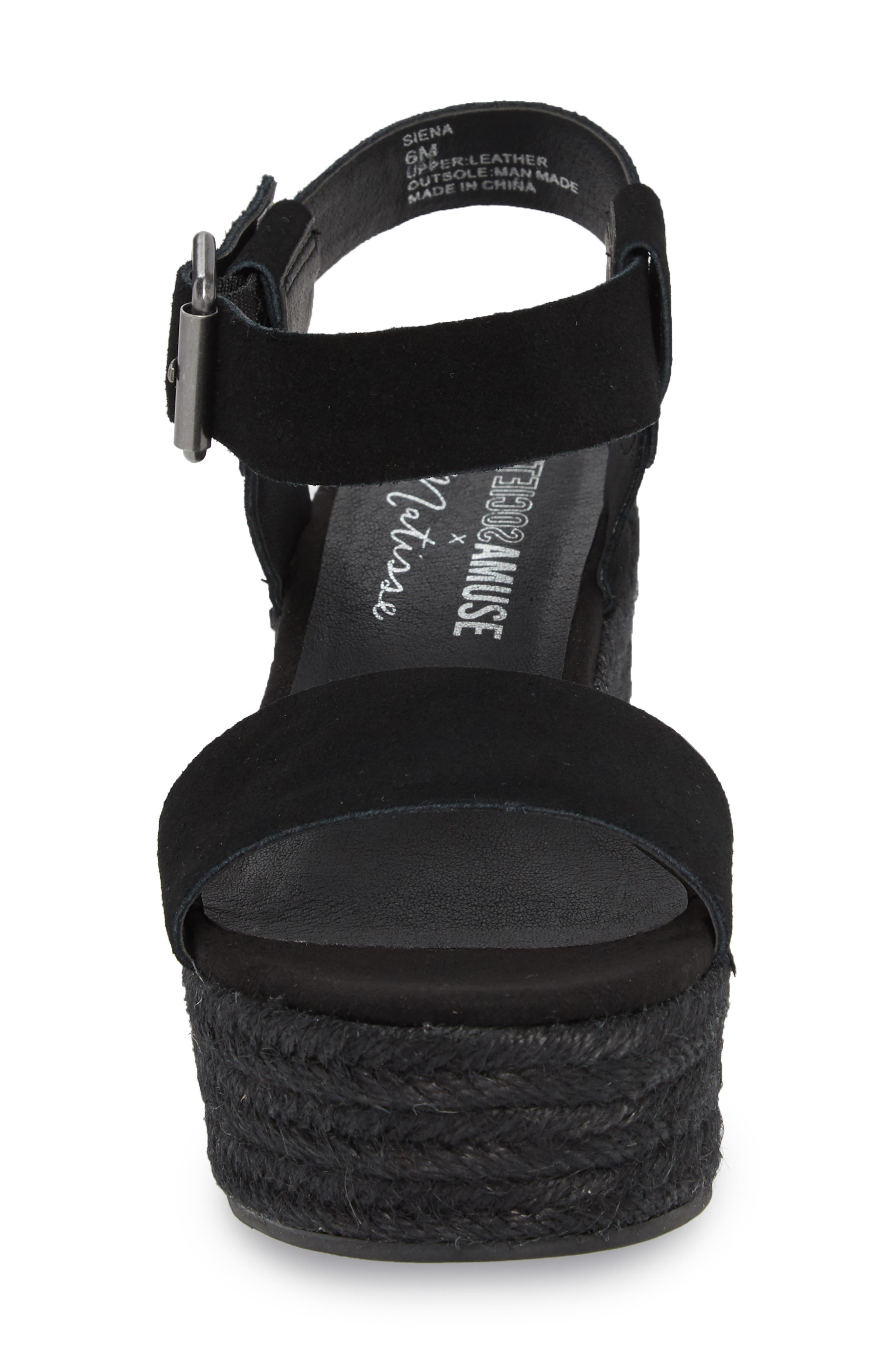 Amuse Society x Matisse Siena Wedge Sandal,                             Alternate thumbnail 4, color,                             017
