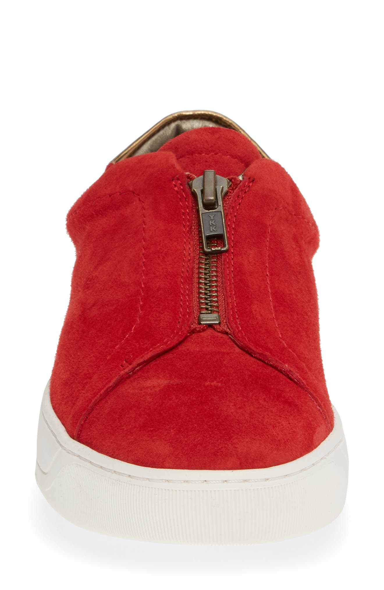Emma Sneaker,                             Alternate thumbnail 4, color,                             RED SUEDE