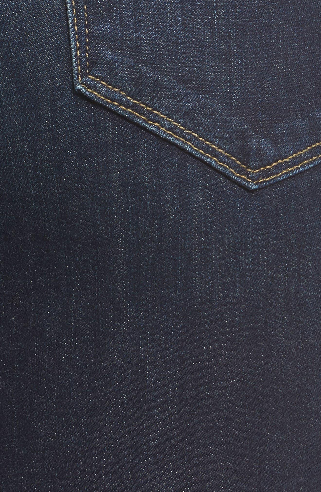 Hoxton Crop High Waist Skinny Jeans,                             Alternate thumbnail 5, color,                             400
