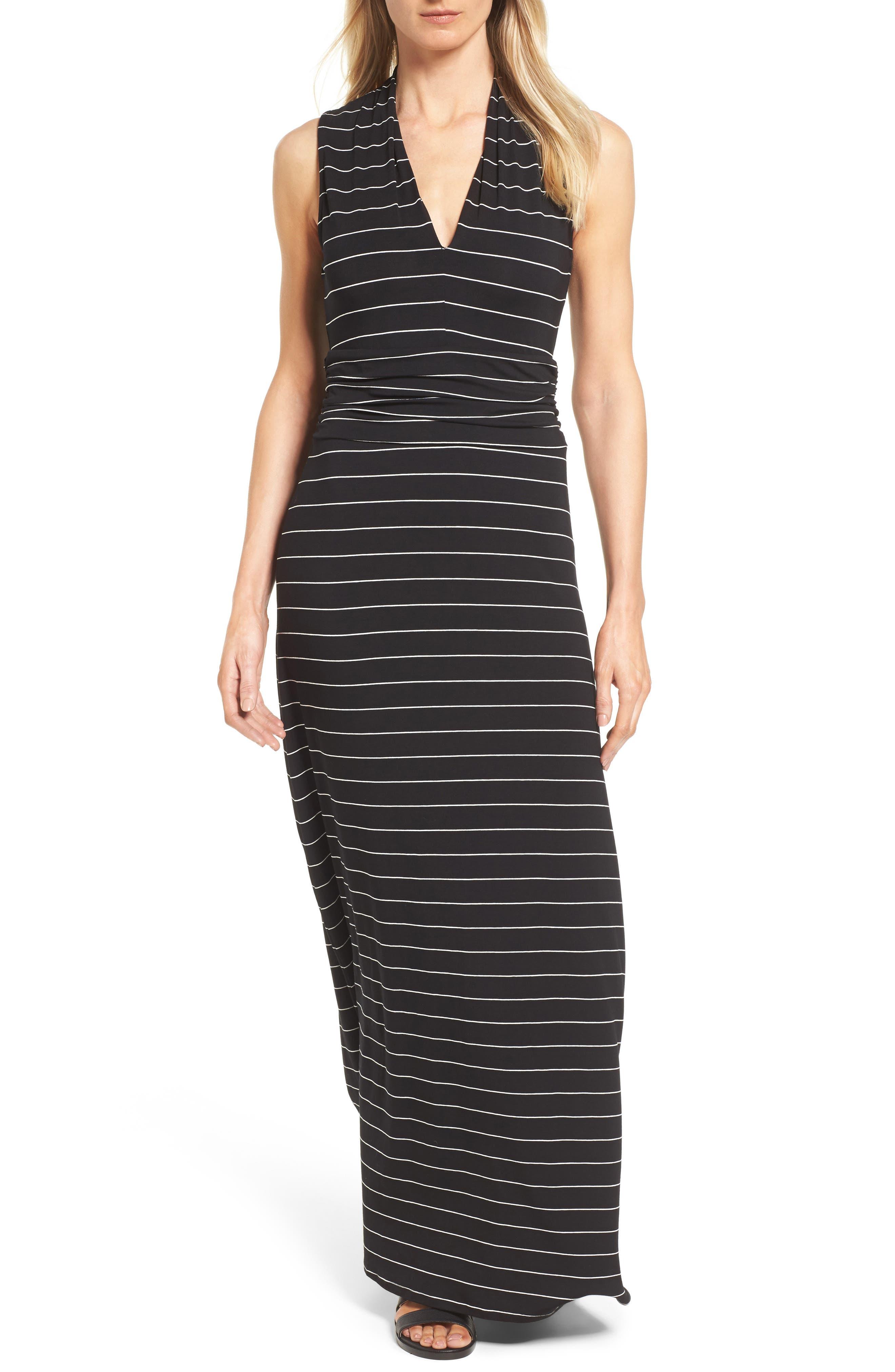 Stripe Maxi Dress,                             Main thumbnail 1, color,                             006