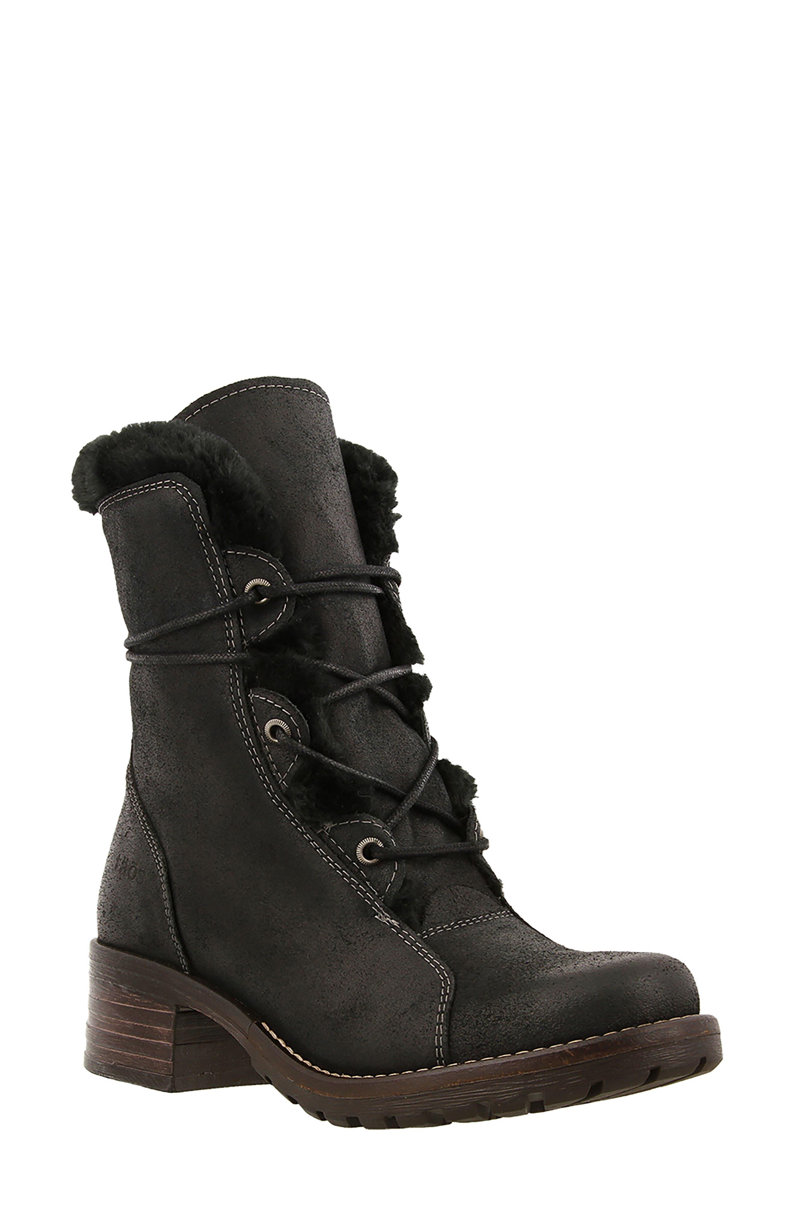 Furkle Boot with Faux Fur Trim,                             Main thumbnail 1, color,                             002