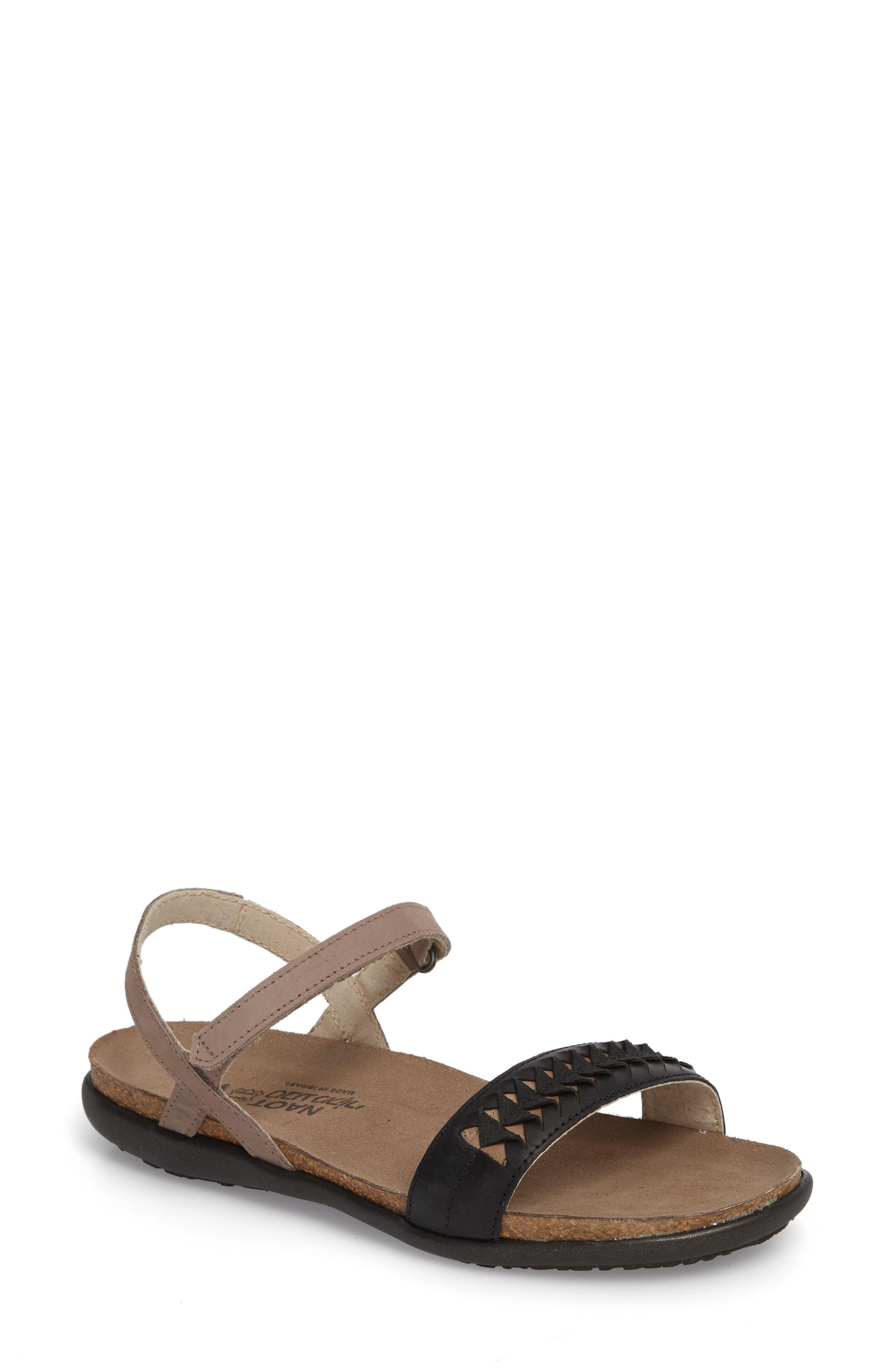 Marble Sandal,                         Main,                         color, STONE NUBUCK