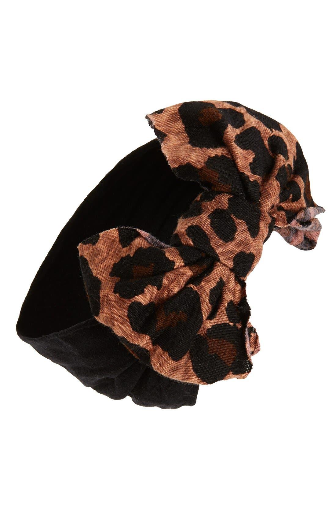 Jersey Bow Headband,                             Main thumbnail 10, color,